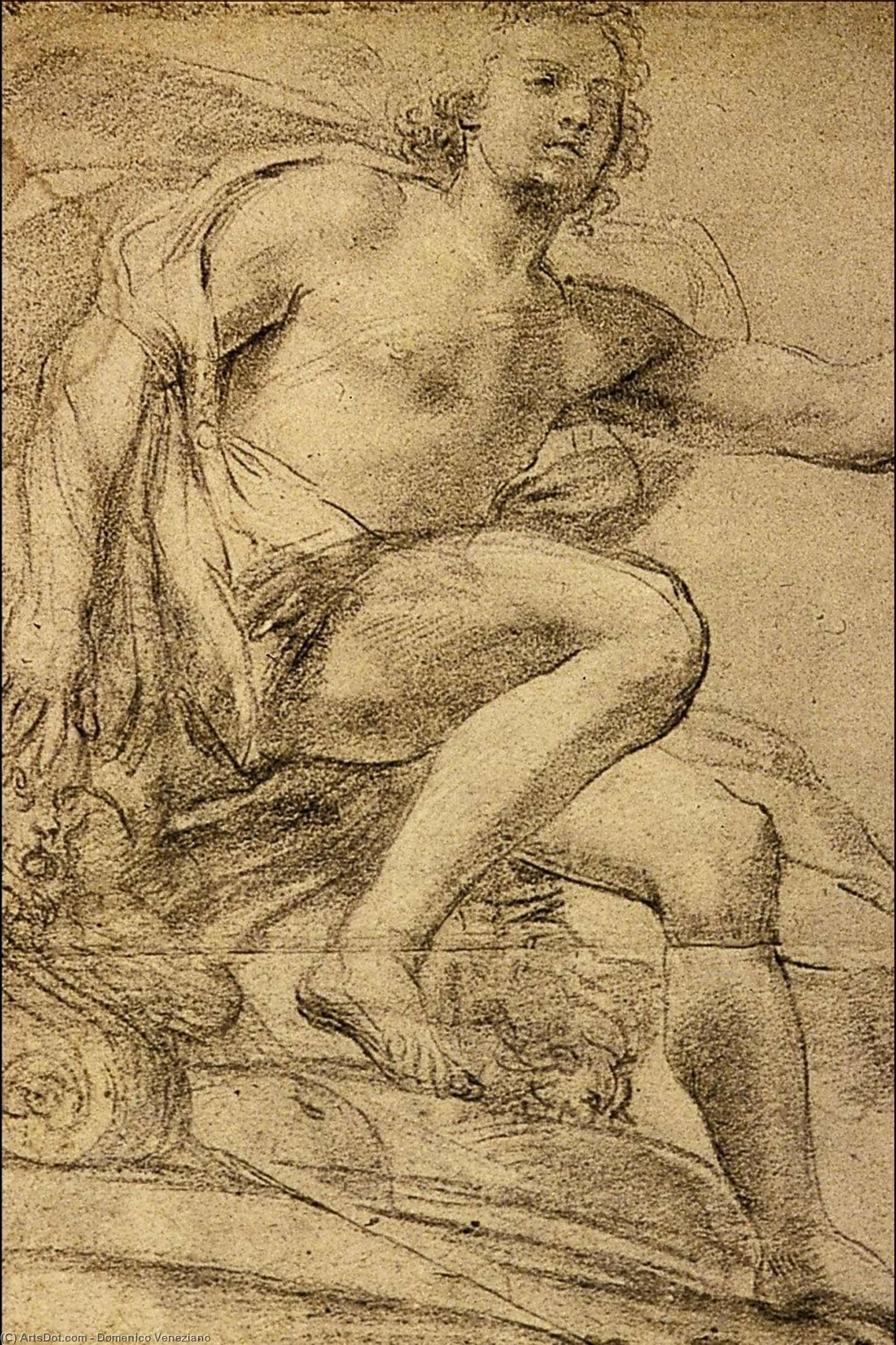Study of Apollo by Domenico Veneziano (1410-1461, Italy) | Museum Art Reproductions Domenico Veneziano | ArtsDot.com