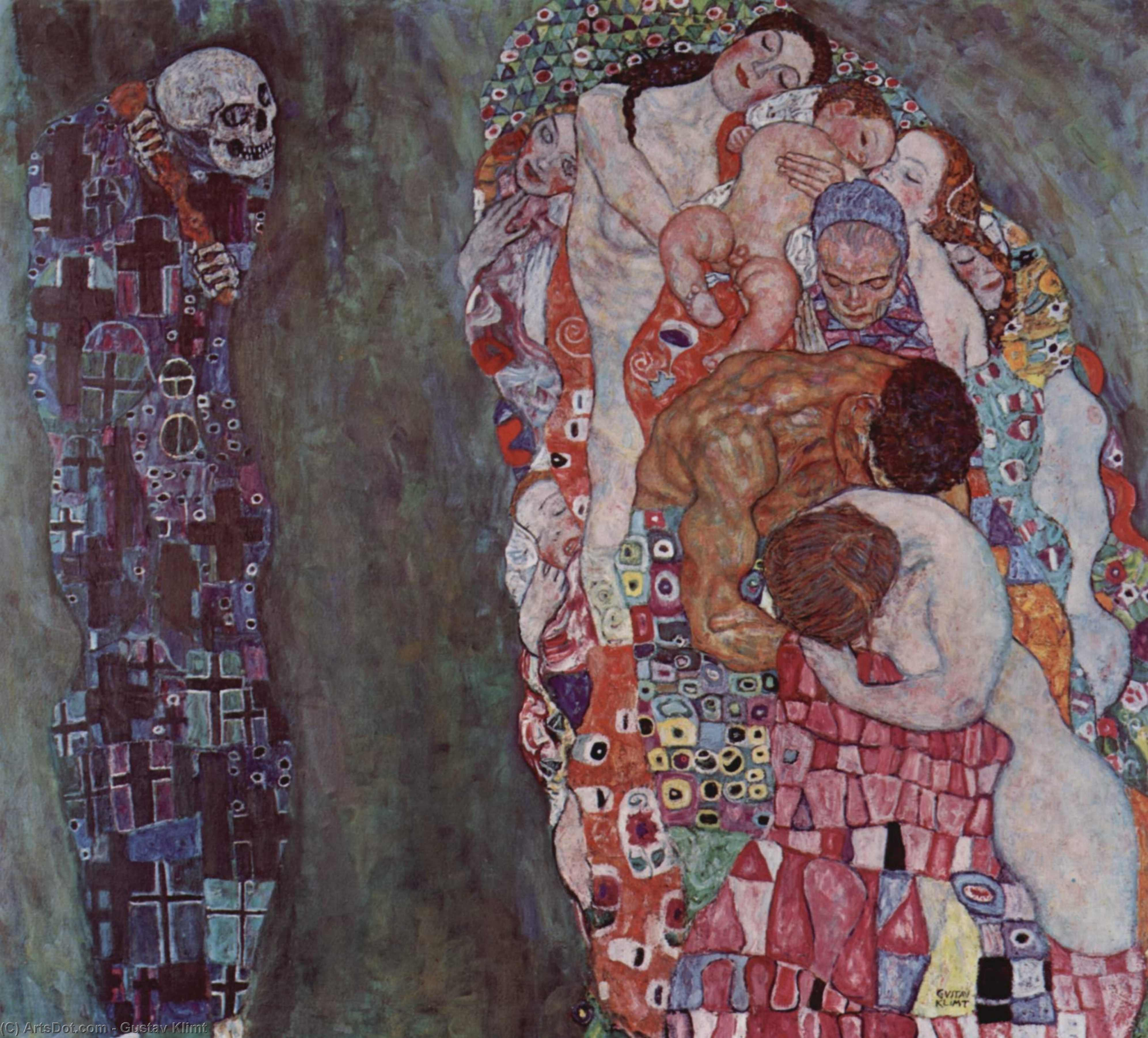 Order Paintings Reproductions | Death and Life, 1916 by Gustav Klimt (1862-1918, Austria) | ArtsDot.com