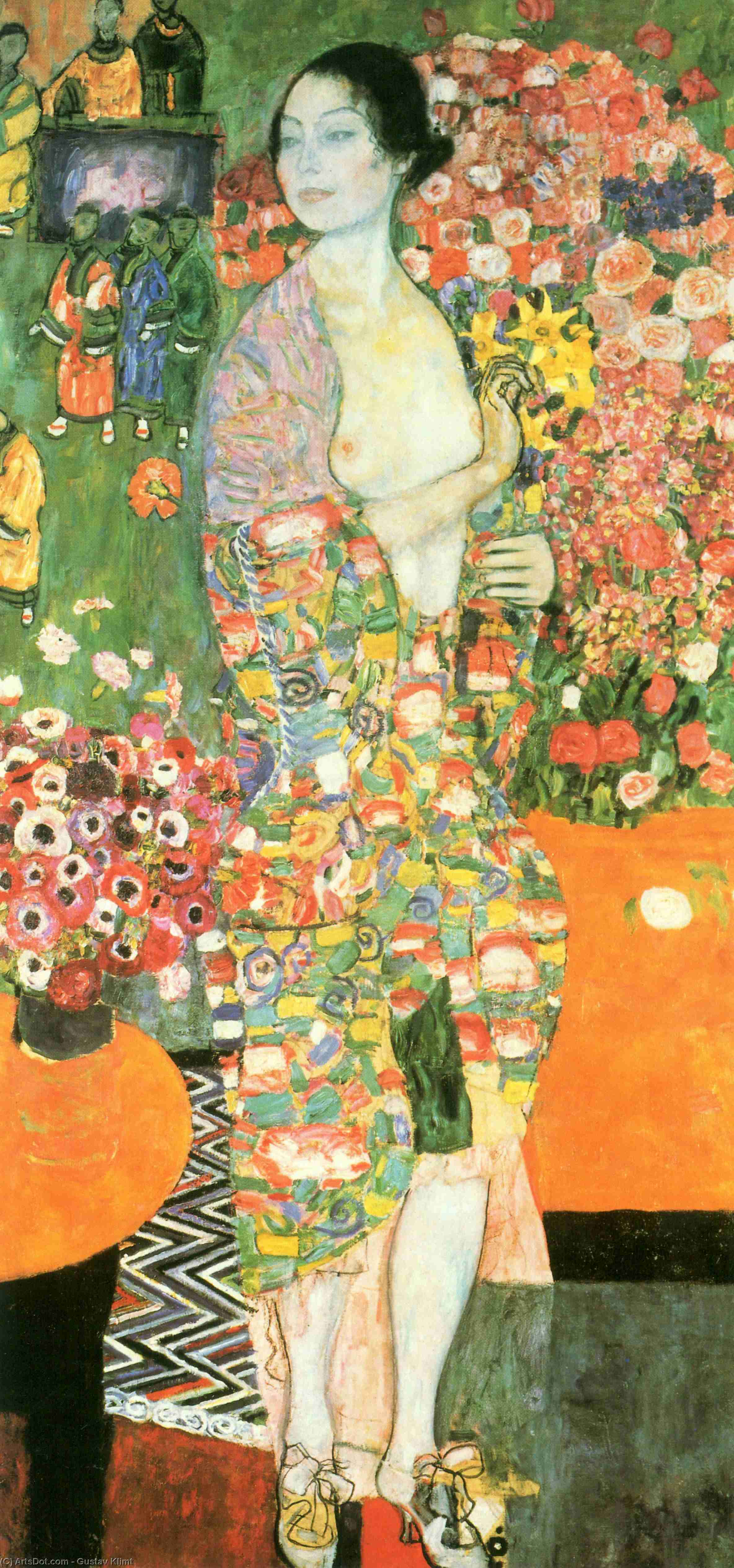 The dancer, 1918 by Gustav Klimt (1862-1918, Austria) | Museum Art Reproductions | ArtsDot.com