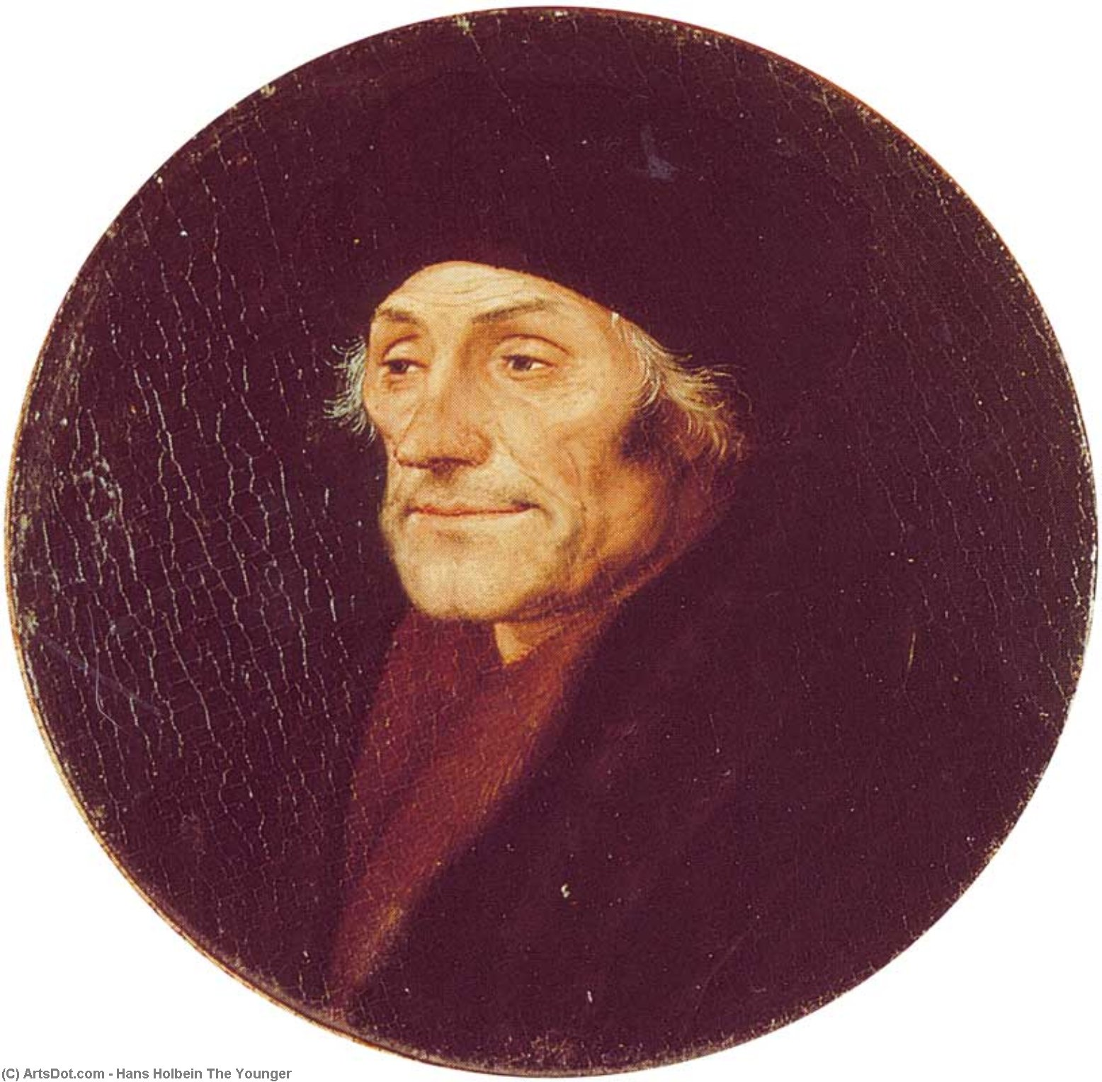 Desiderius Erasmus by Hans Holbein The Younger (1497-1545, Italy) | Art Reproductions Hans Holbein The Younger | ArtsDot.com