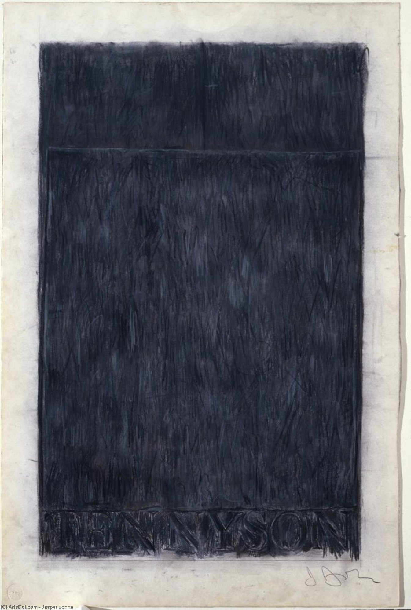 Tennyson, 1959 by Jasper Johns