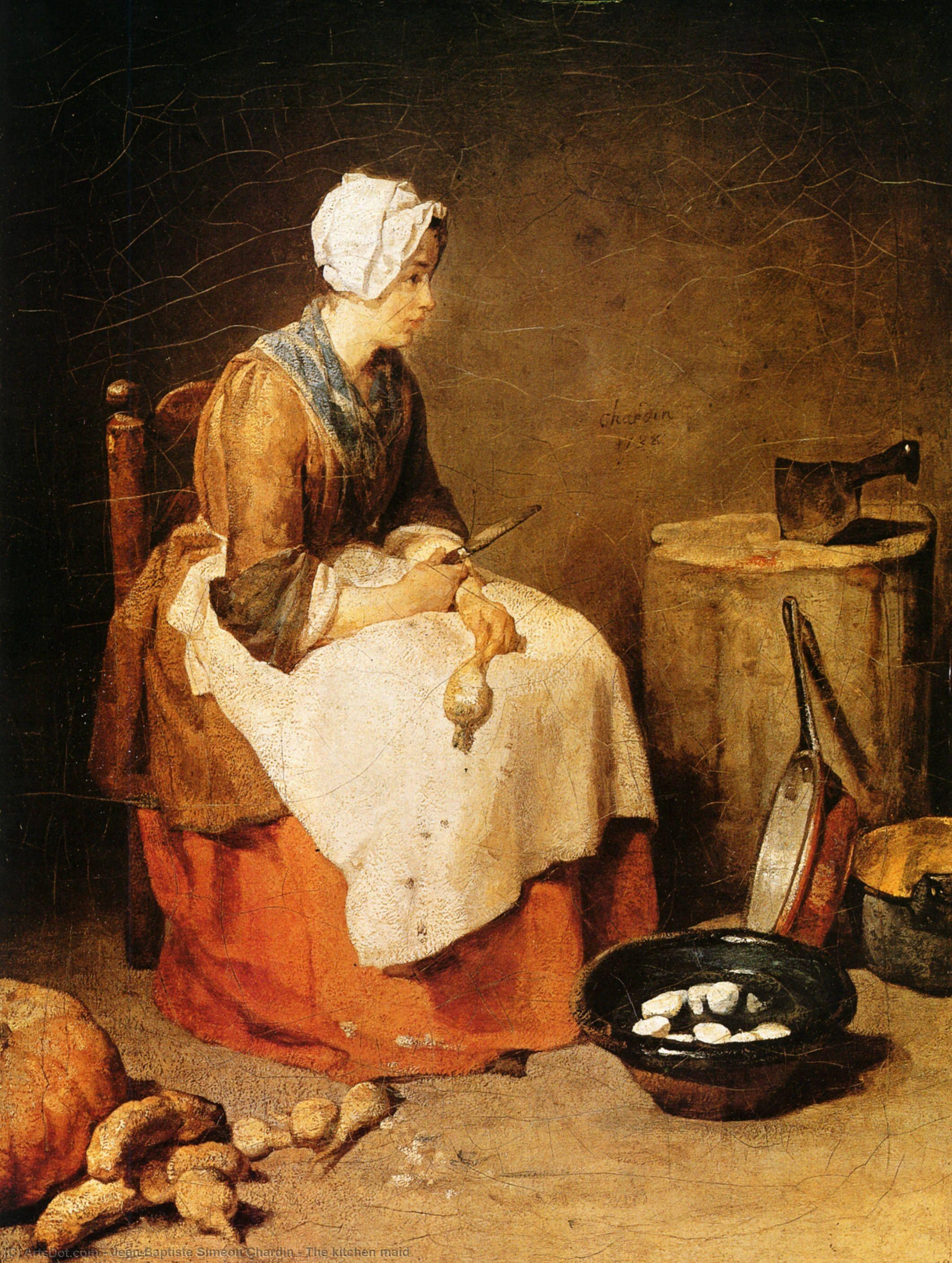 The kitchen maid, 1740 by Jean-Baptiste Simeon Chardin (1699-1779, France) | Art Reproduction | ArtsDot.com