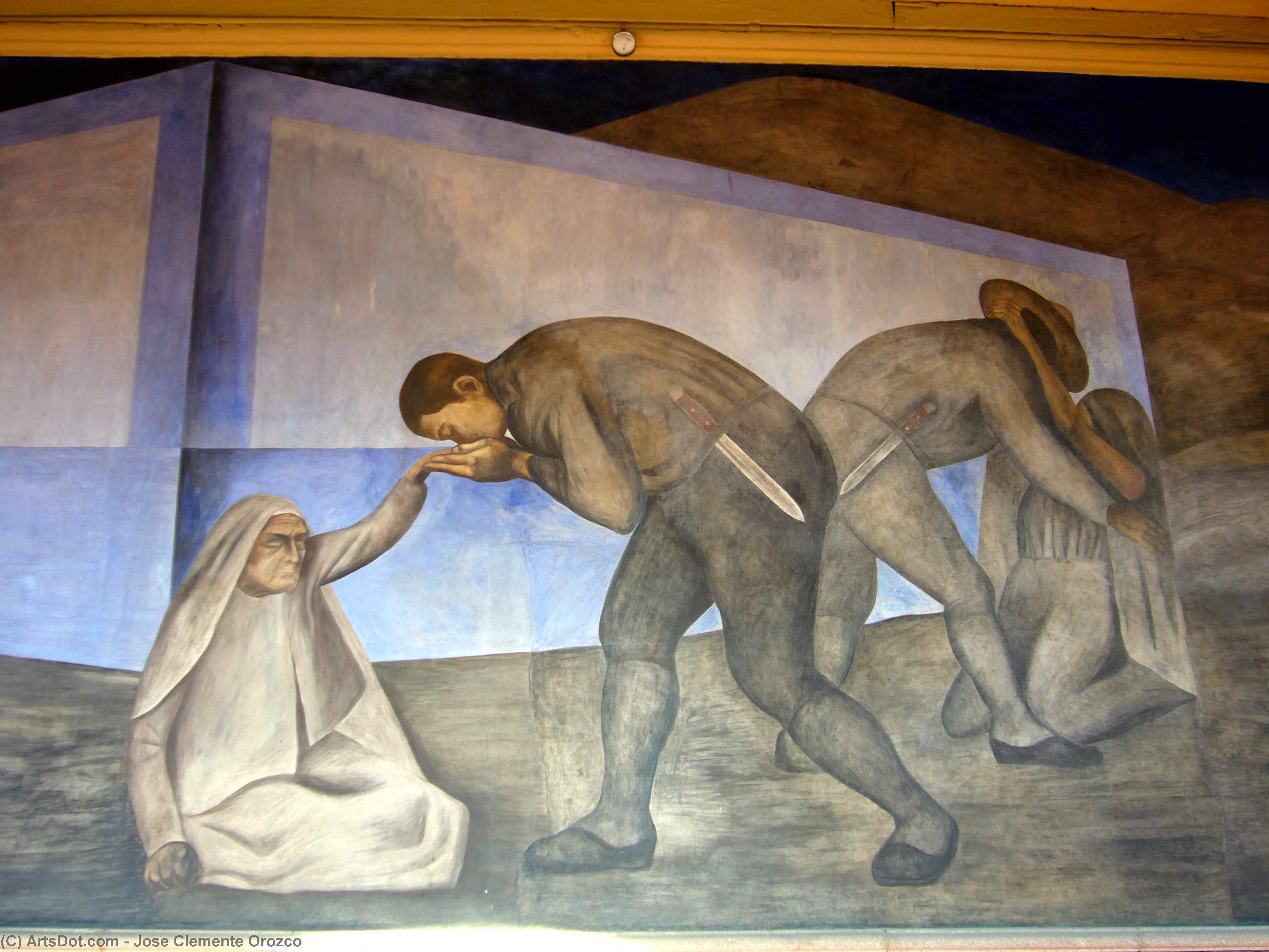Farewell, 1926 by Jose Clemente Orozco (1883-1949, Mexico) | Art Reproduction | ArtsDot.com