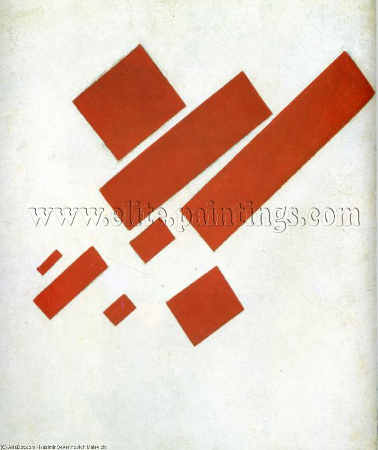 Suprematism. Two Dimensional Self Portrait, Oil On Canvas by Kazimir Severinovich Malevich (1878-1935, Ukraine)