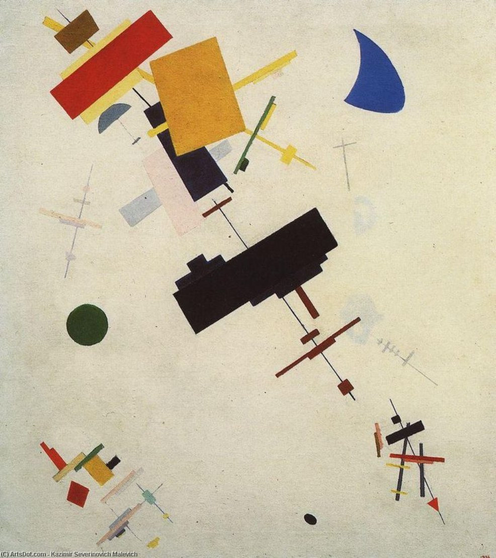 Suprematism (16), Oil On Canvas by Kazimir Severinovich Malevich (1878-1935, Ukraine)