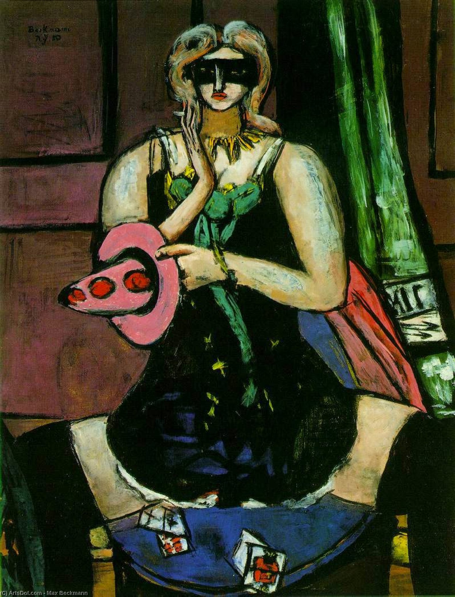 Columbine, 1950 by Max Beckmann (1884-1950, Germany) | Oil Painting | ArtsDot.com