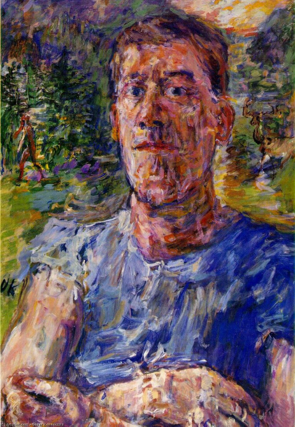 Self-portrait of a `Degenerate Artist`, 1937 by Oskar Kokoschka (1886-1980, Croatia) |  | ArtsDot.com