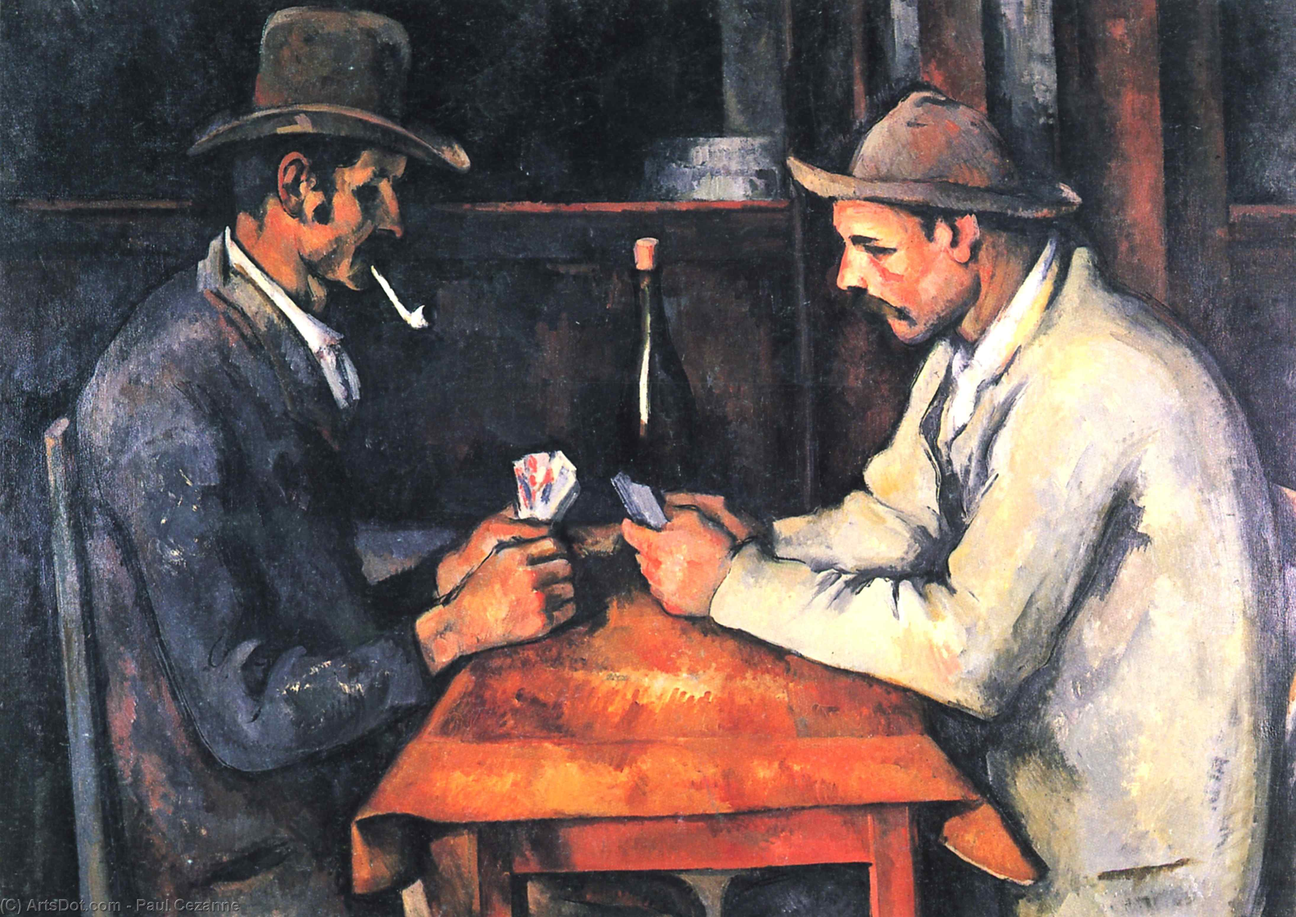 The Card Players, 1893 by Paul Cezanne (1839-1906, France) | Paintings Reproductions Paul Cezanne | ArtsDot.com