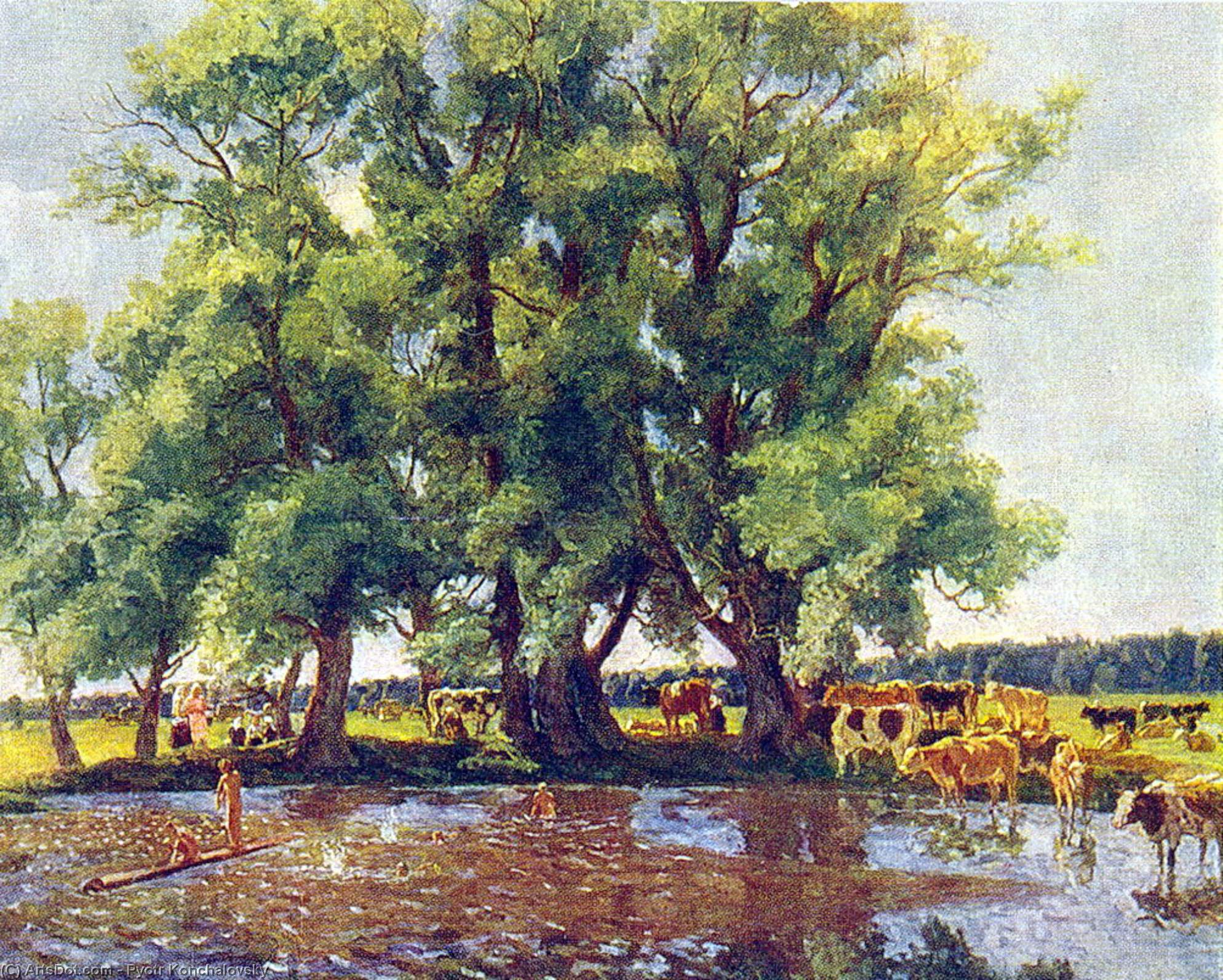 At midday, 1947 by Pyotr Konchalovsky (1876-1956, Russia) | Art Reproduction | ArtsDot.com