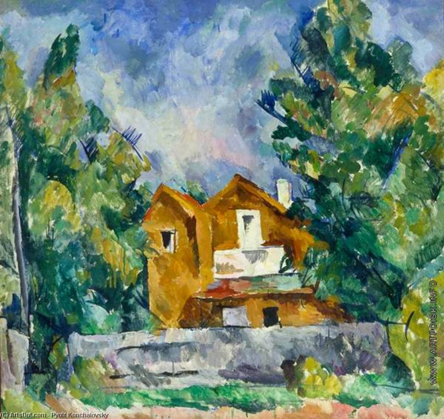 Cottage in Kuntsevo, 1919 by Pyotr Konchalovsky (1876-1956, Russia) | Museum Art Reproductions | ArtsDot.com