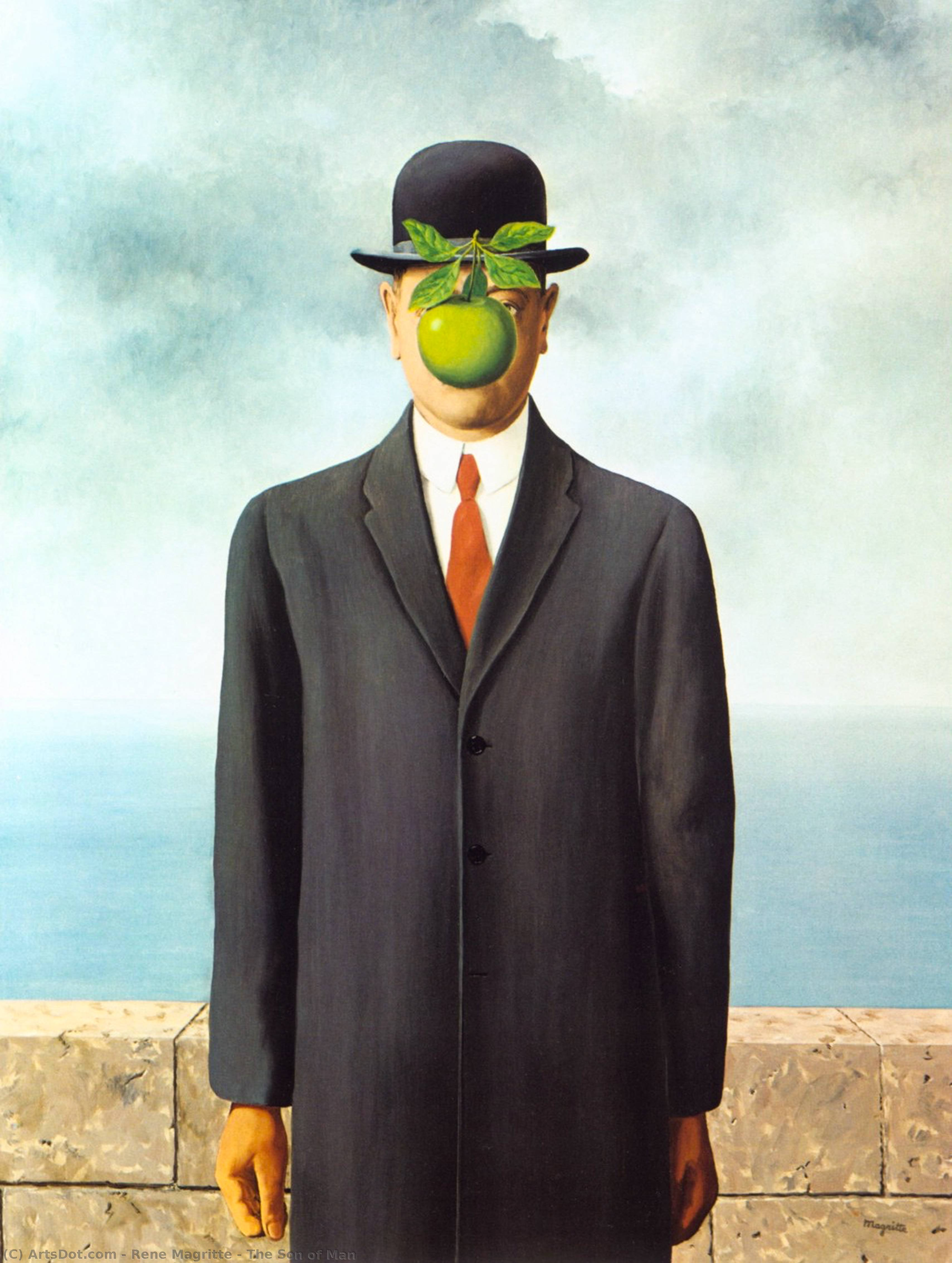 The Son of Man, 1964 by Rene Magritte (1898-1967, Belgium) | Museum Art Reproductions | ArtsDot.com