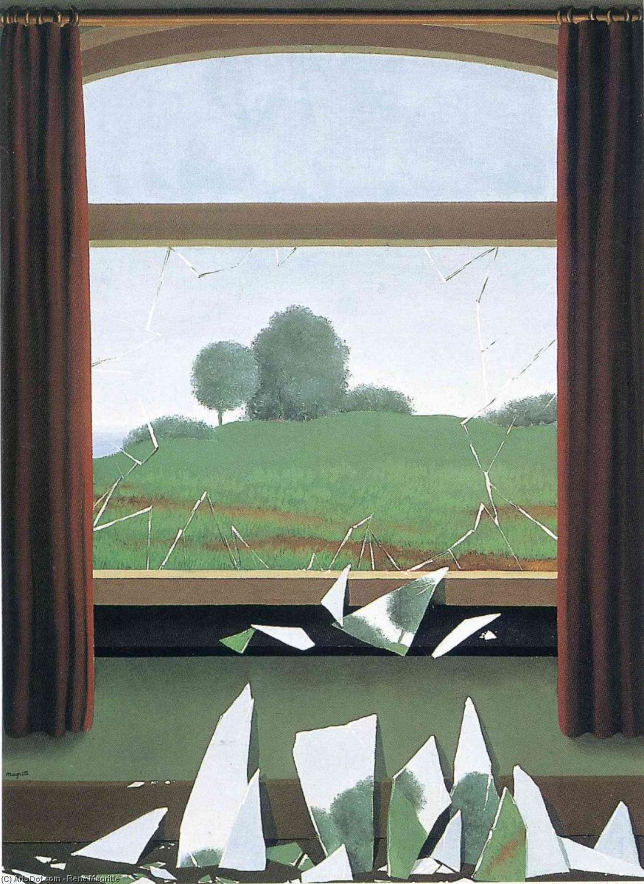 The Key to the Fields, Oil On Canvas by Rene Magritte (1898-1967, Belgium)