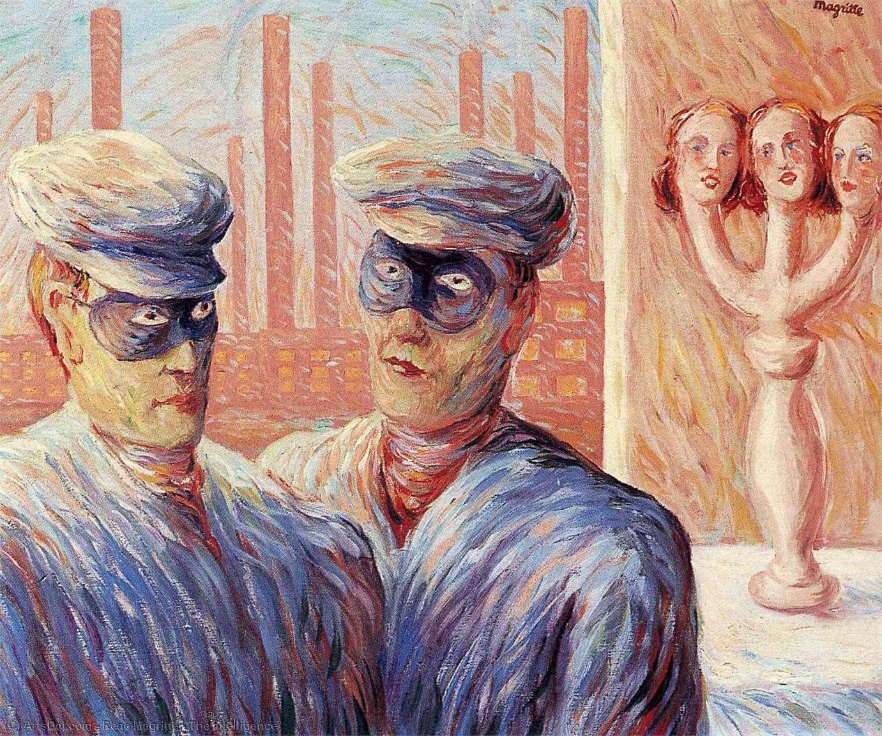 The Intelligence, 1946 by Rene Magritte (1898-1967, Belgium) | Museum Art Reproductions | ArtsDot.com