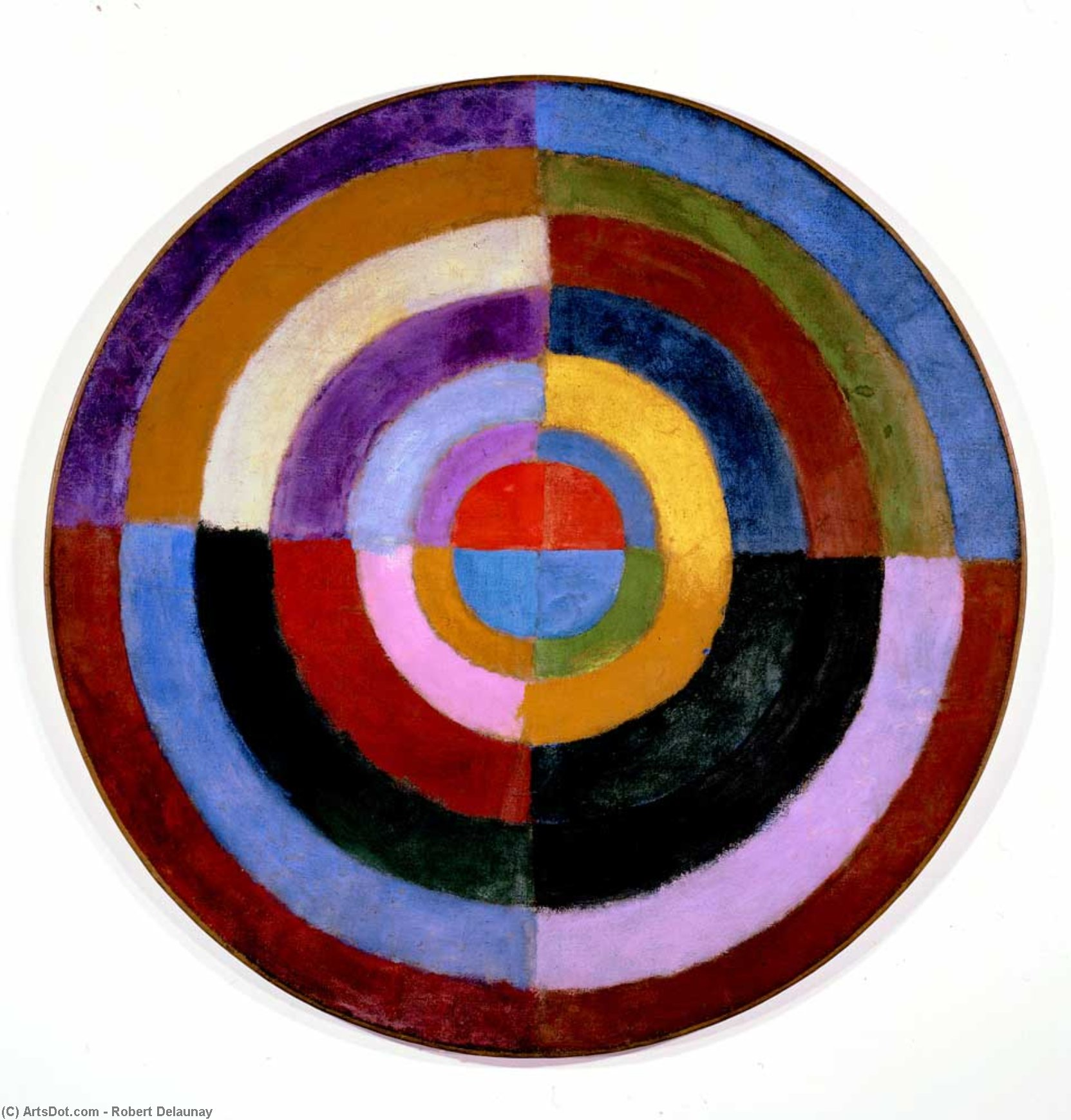 Premier Disque by Robert Delaunay (1885-1941, France) | ArtsDot.com