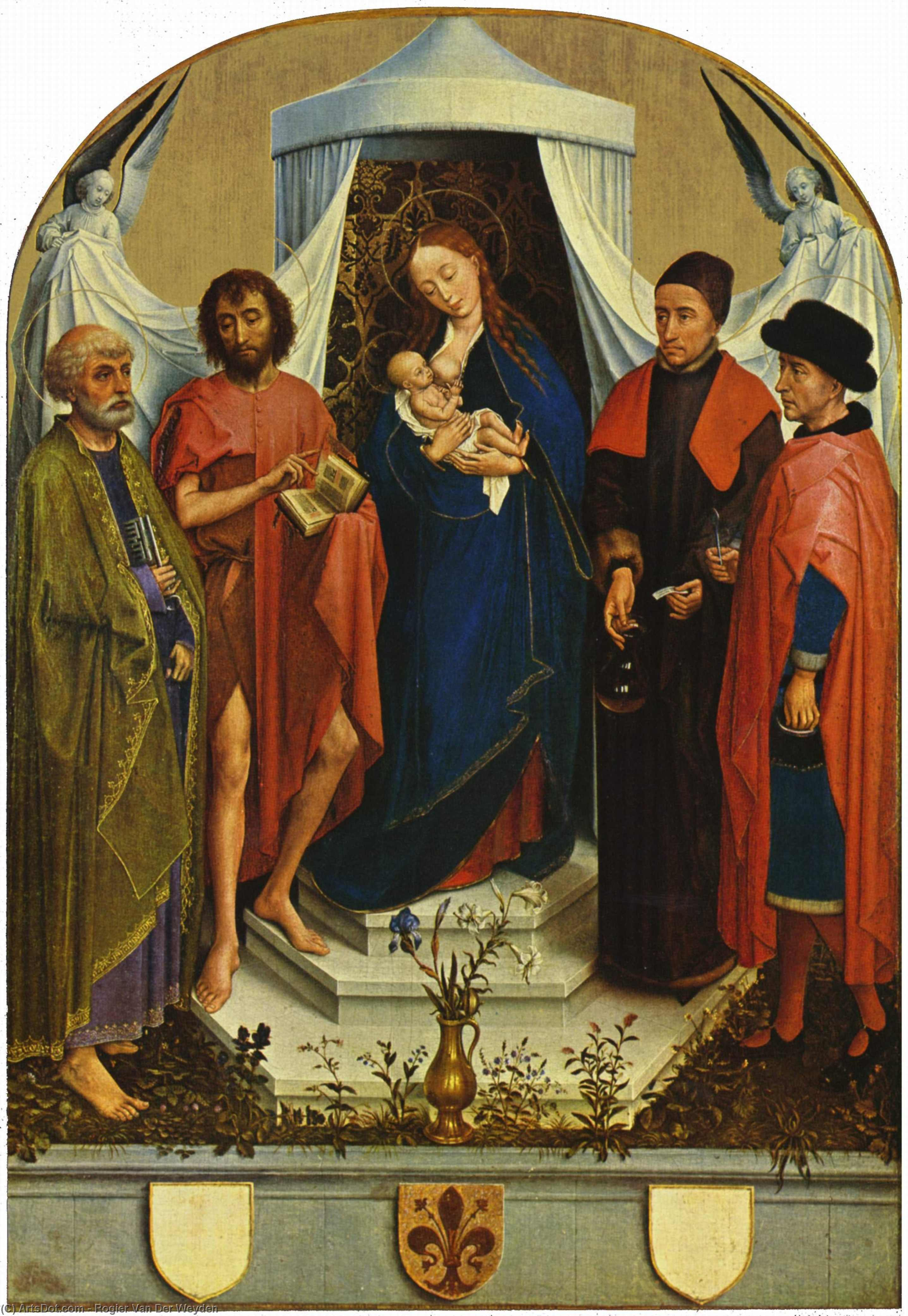 Buy Museum Art Reproductions | Madonna with the saints by Rogier Van Der Weyden (1400-1464, Belgium) | ArtsDot.com
