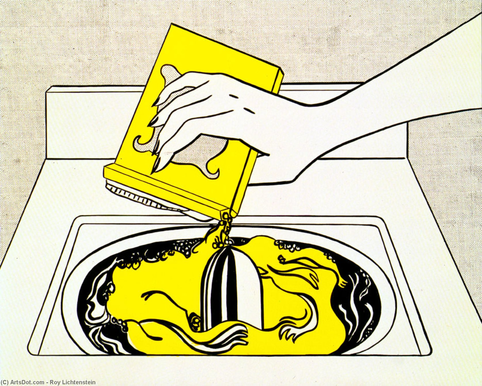 Washing machine, 1961 by Roy Lichtenstein (1923-1997, United States) | Museum Quality Reproductions | ArtsDot.com