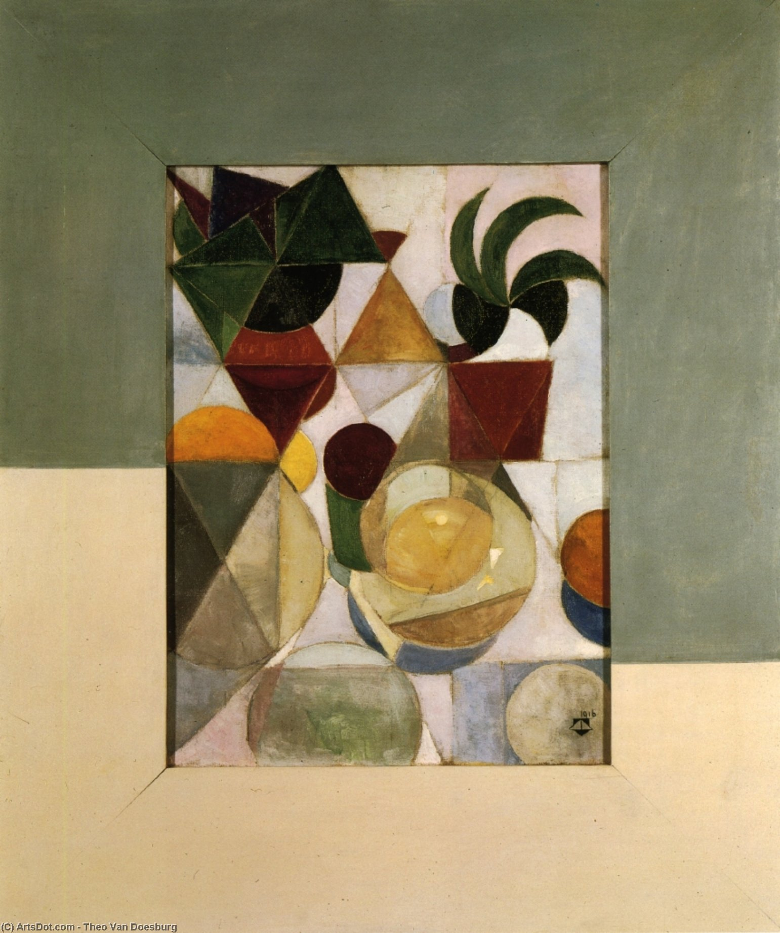 Composition III (Still life), Oil On Canvas by Theo Van Doesburg (1883-1931, Netherlands)
