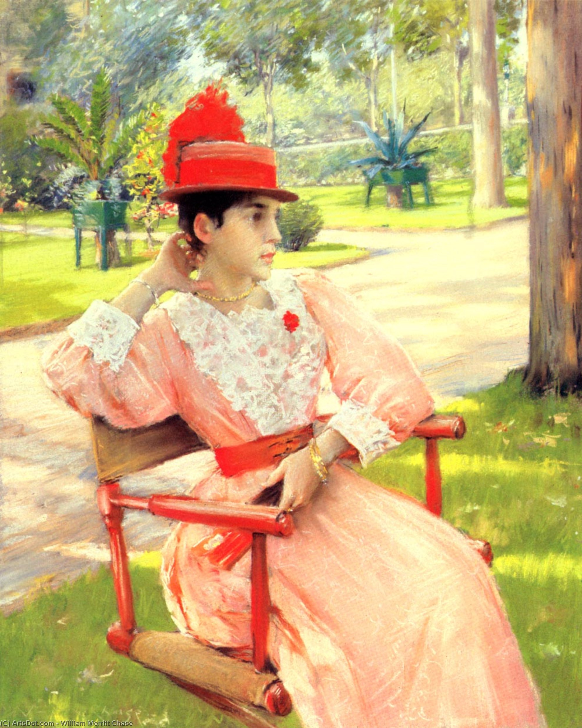 Afternoon In The Park, Pastel by William Merritt Chase (1849-1916, United States)
