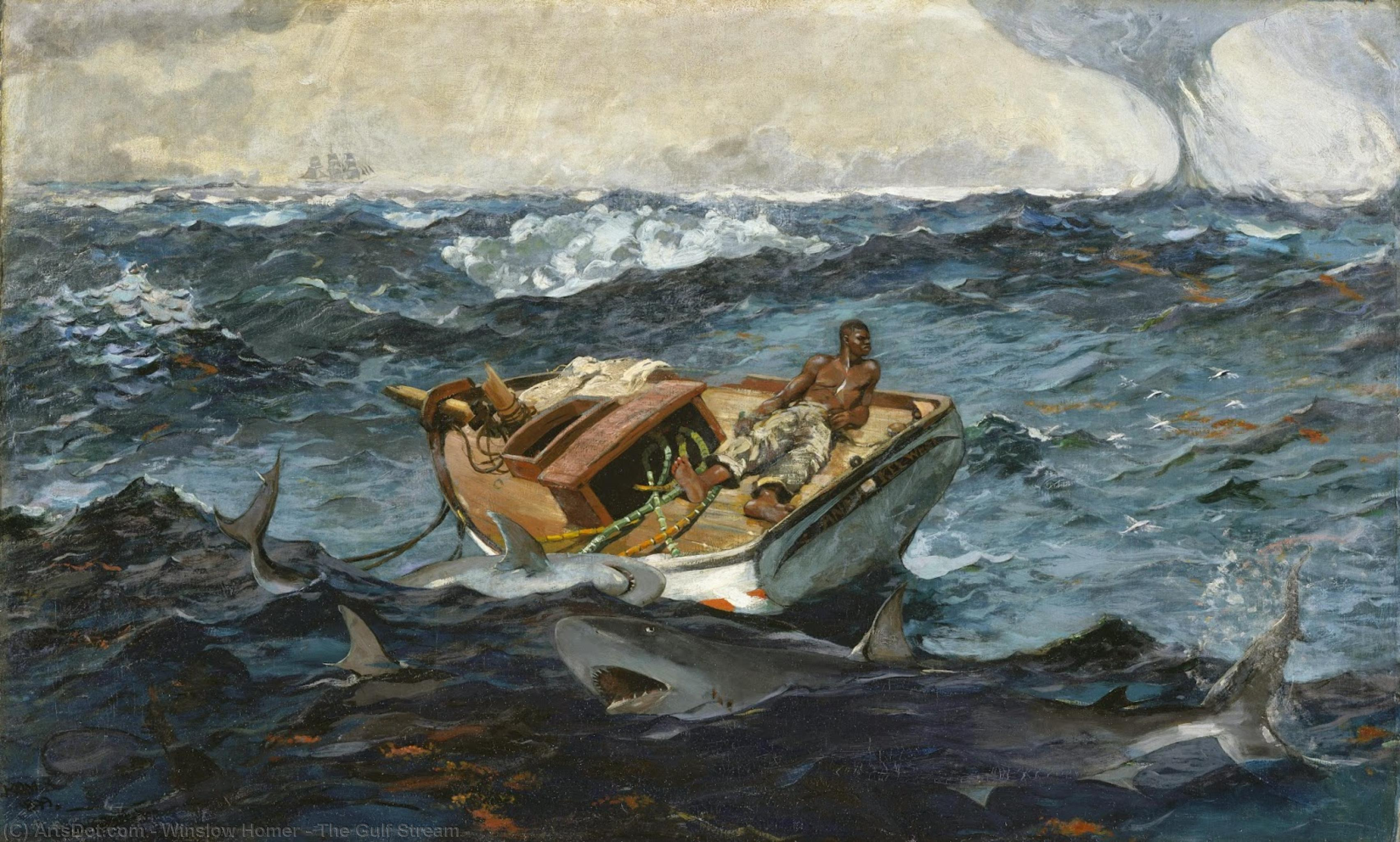 The Gulf Stream, 1906 by Winslow Homer (1836-1910, United States) | Paintings Reproductions Winslow Homer | ArtsDot.com