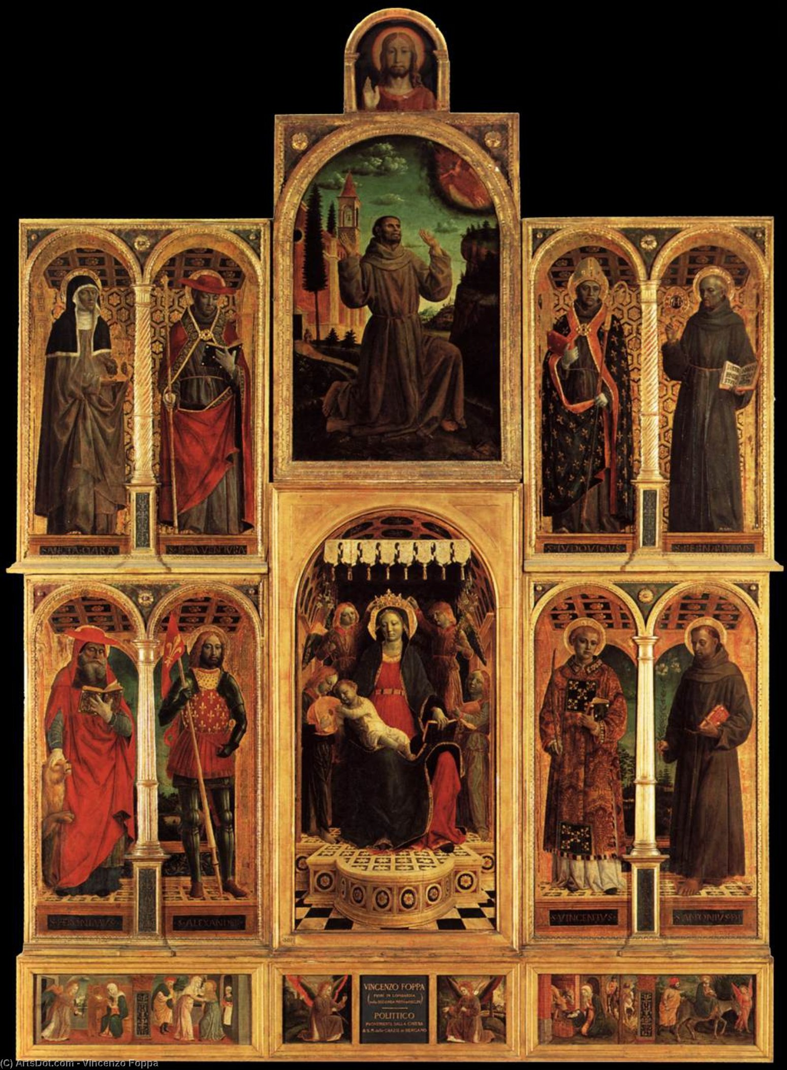 Altarpiece, Tempera by Vincenzo Foppa (1427-1515, Italy)