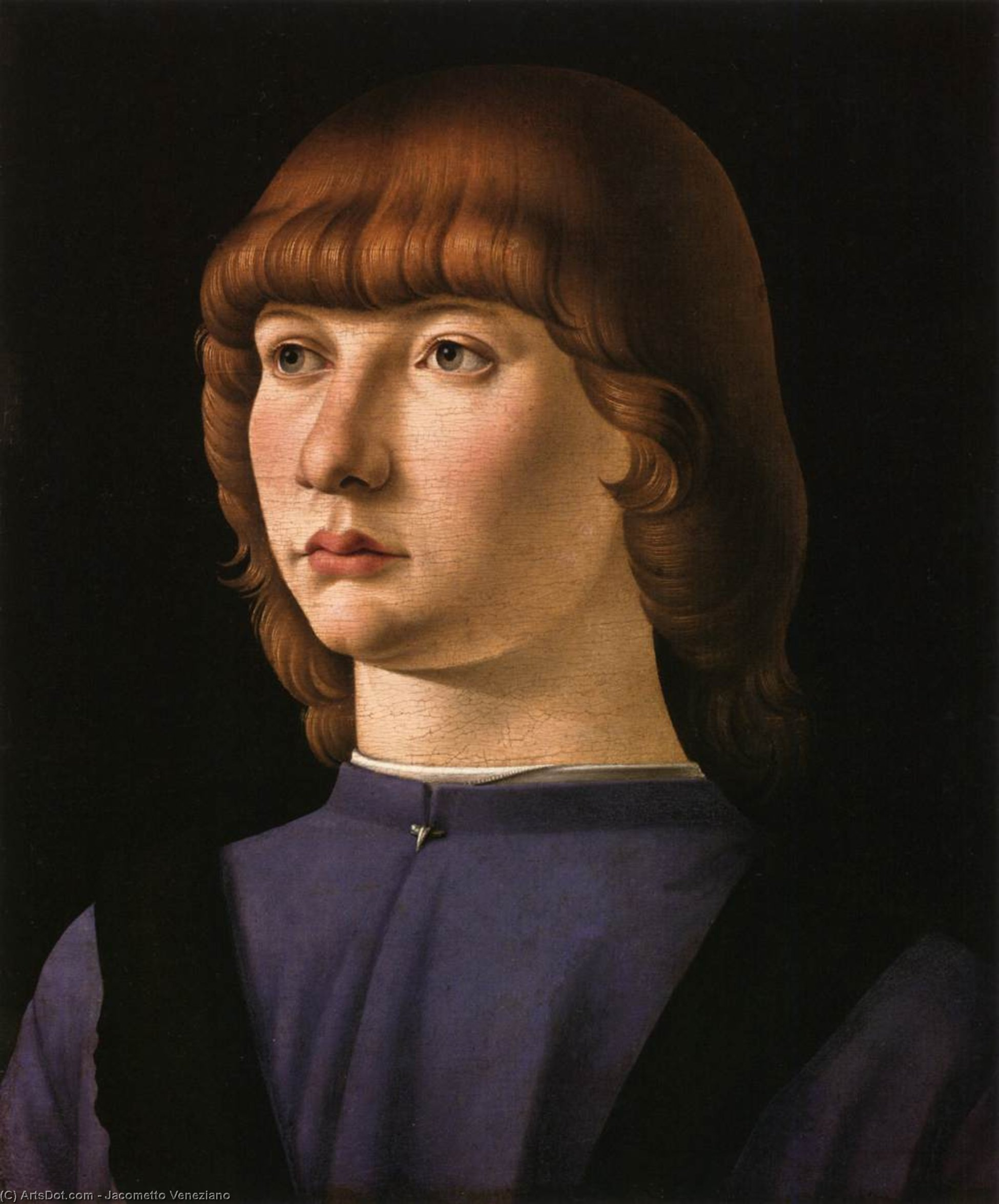 Portrait of a Boy, 1475 by Jacometto Veneziano | Art Reproduction | ArtsDot.com