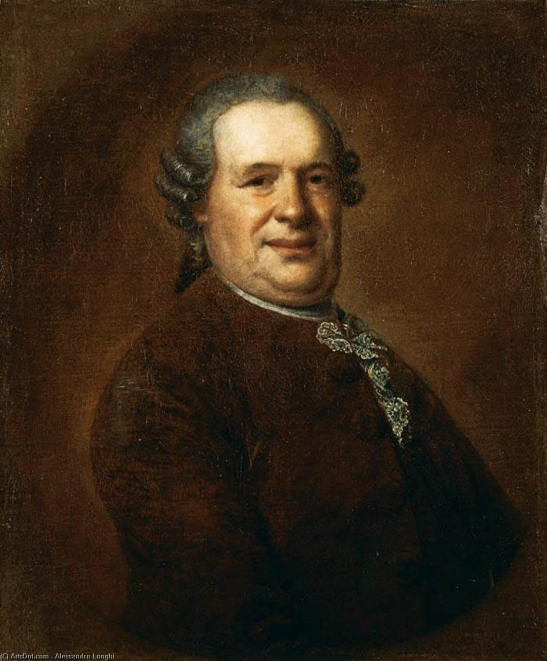 Buy Museum Art Reproductions : Portrait of Gentleman by Alessandro Longhi (1733-1813, Italy) | ArtsDot.com