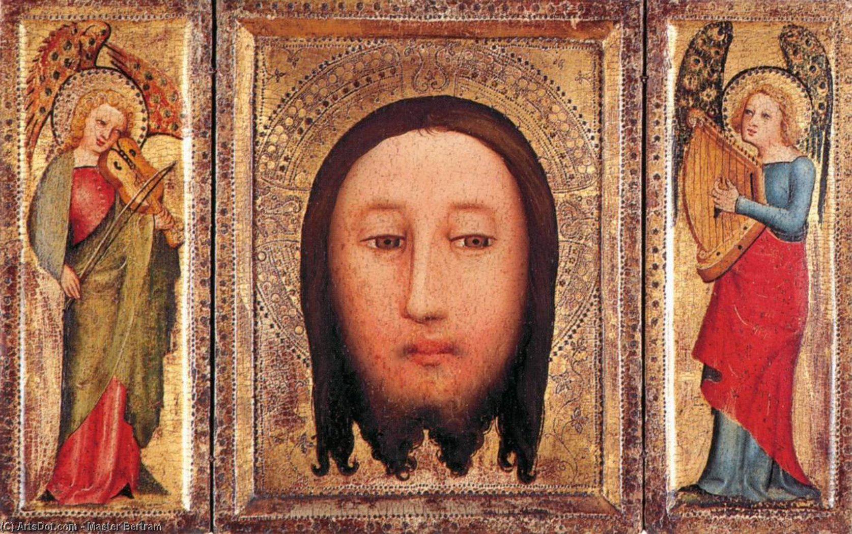 Triptych: The Holy Visage of Christ, Oil On Panel by Master Bertram (1345-1415, Germany)