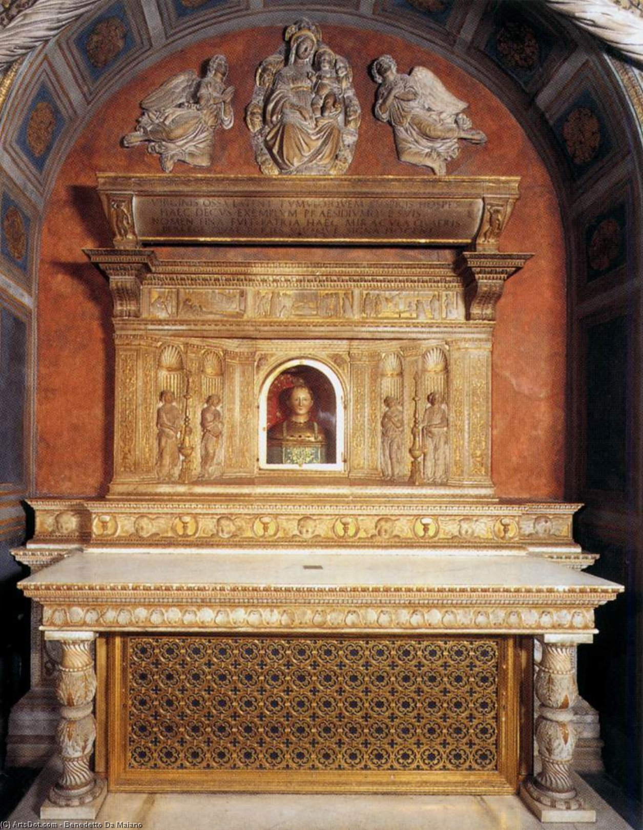 Tomb Altar of St Fina, Marble by Benedetto Da Maiano (1446-1497, Italy)