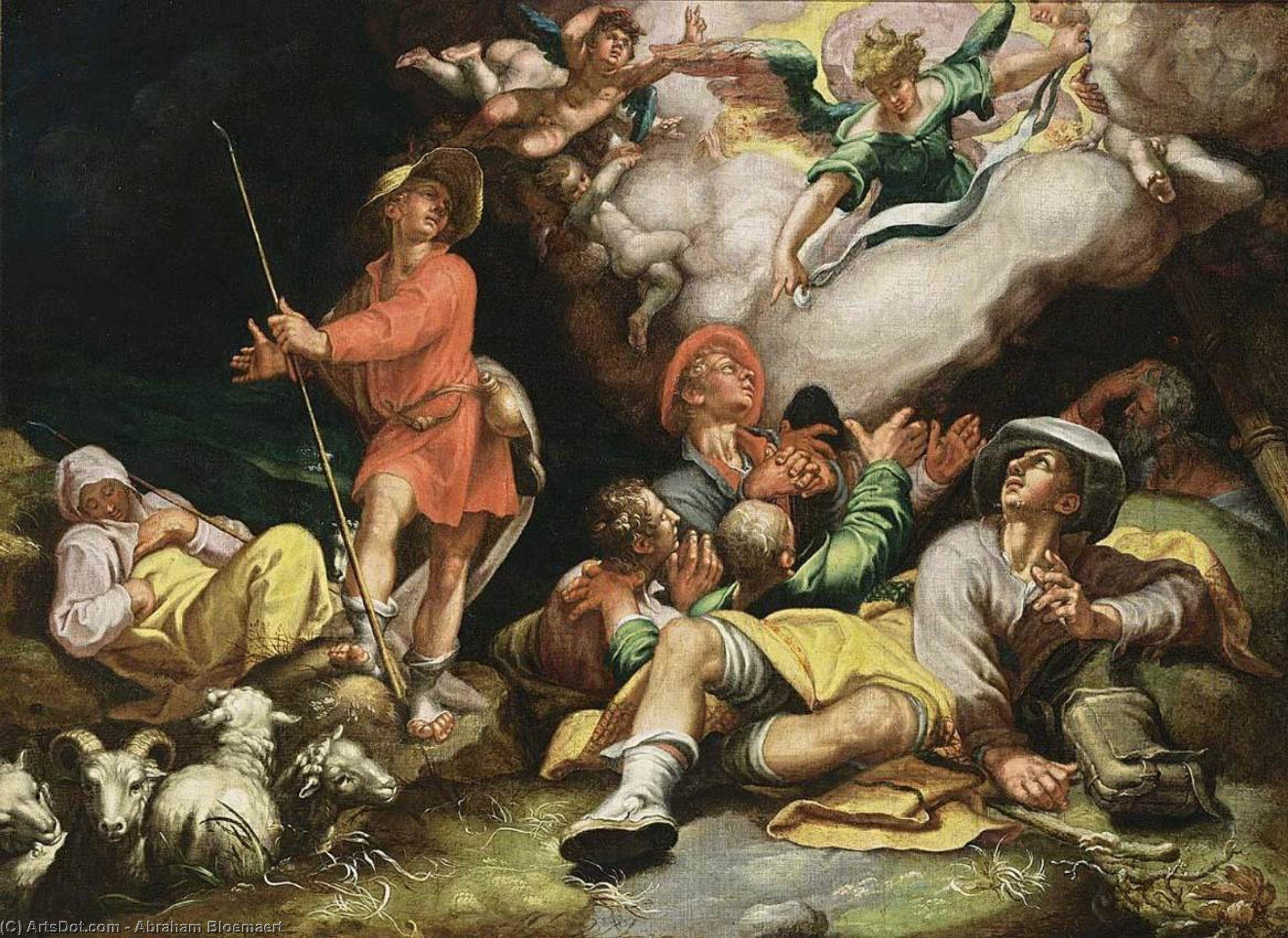 Adoration of the Shepherds, Oil On Canvas by Abraham Bloemaert (1566-1651, Netherlands)