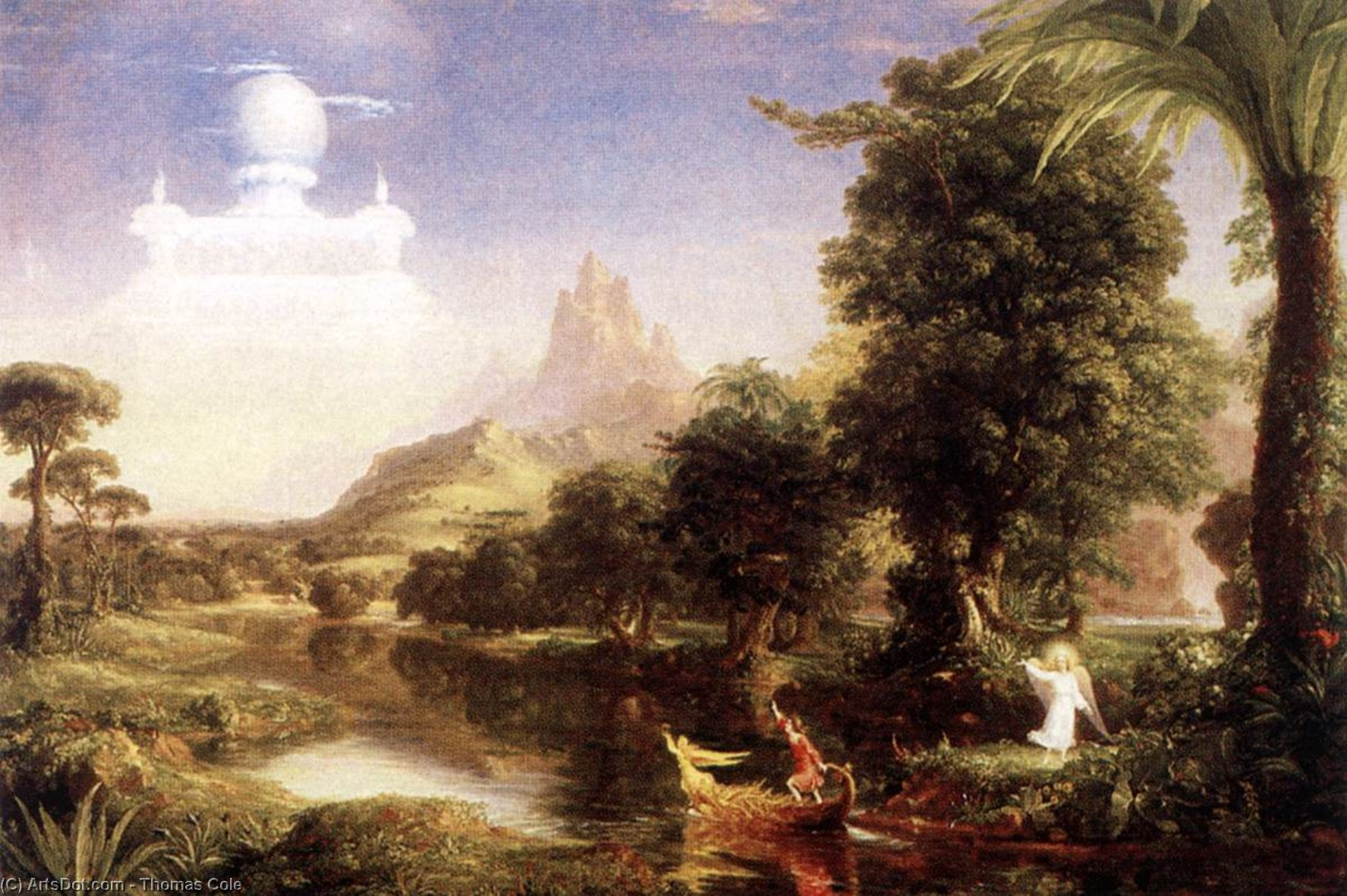 The Ages of Life: Youth, Oil On Canvas by Thomas Cole (1801-1848, United Kingdom)