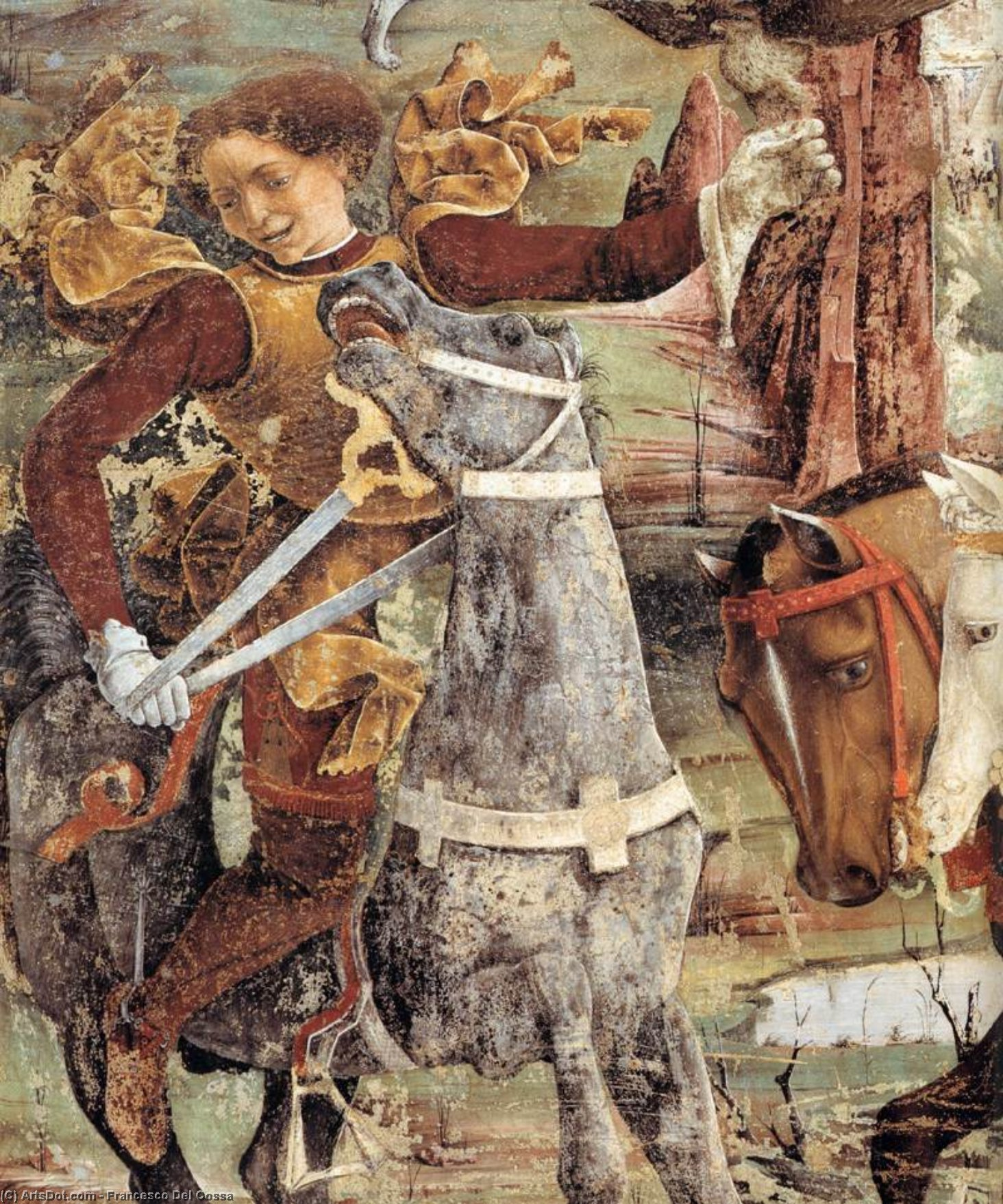 Allegory of March: Triumph of Minerva (detail) (13), 1476 by Francesco Del Cossa (1436-1477, Italy) | Museum Quality Reproductions | ArtsDot.com