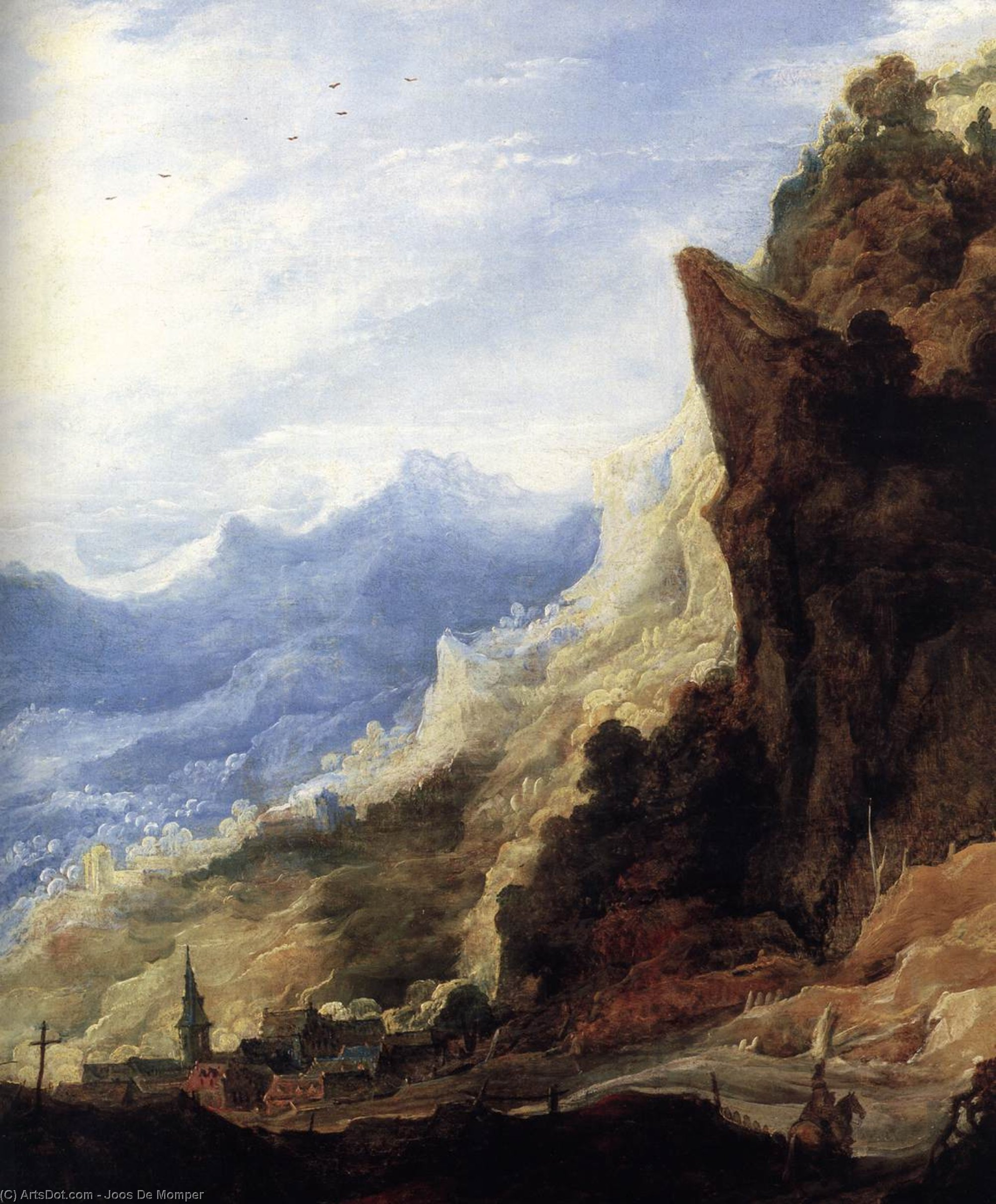 Large Mountain Landscape (detail), 1620 by Joos De Momper (1564-1635, Belgium) | Museum Art Reproductions | ArtsDot.com