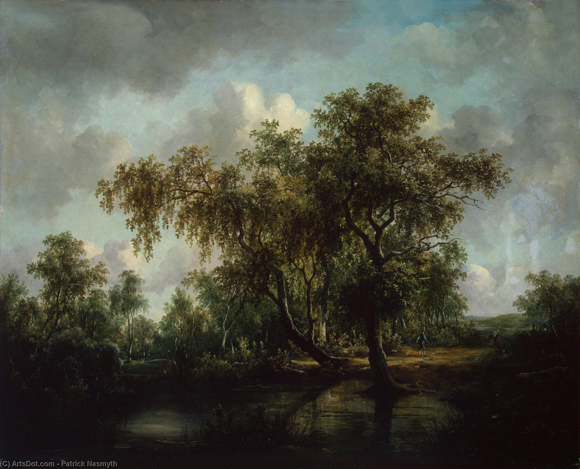 Landscape with a Pond, Oil On Canvas by Patrick Nasmyth (1787-1831, United Kingdom)