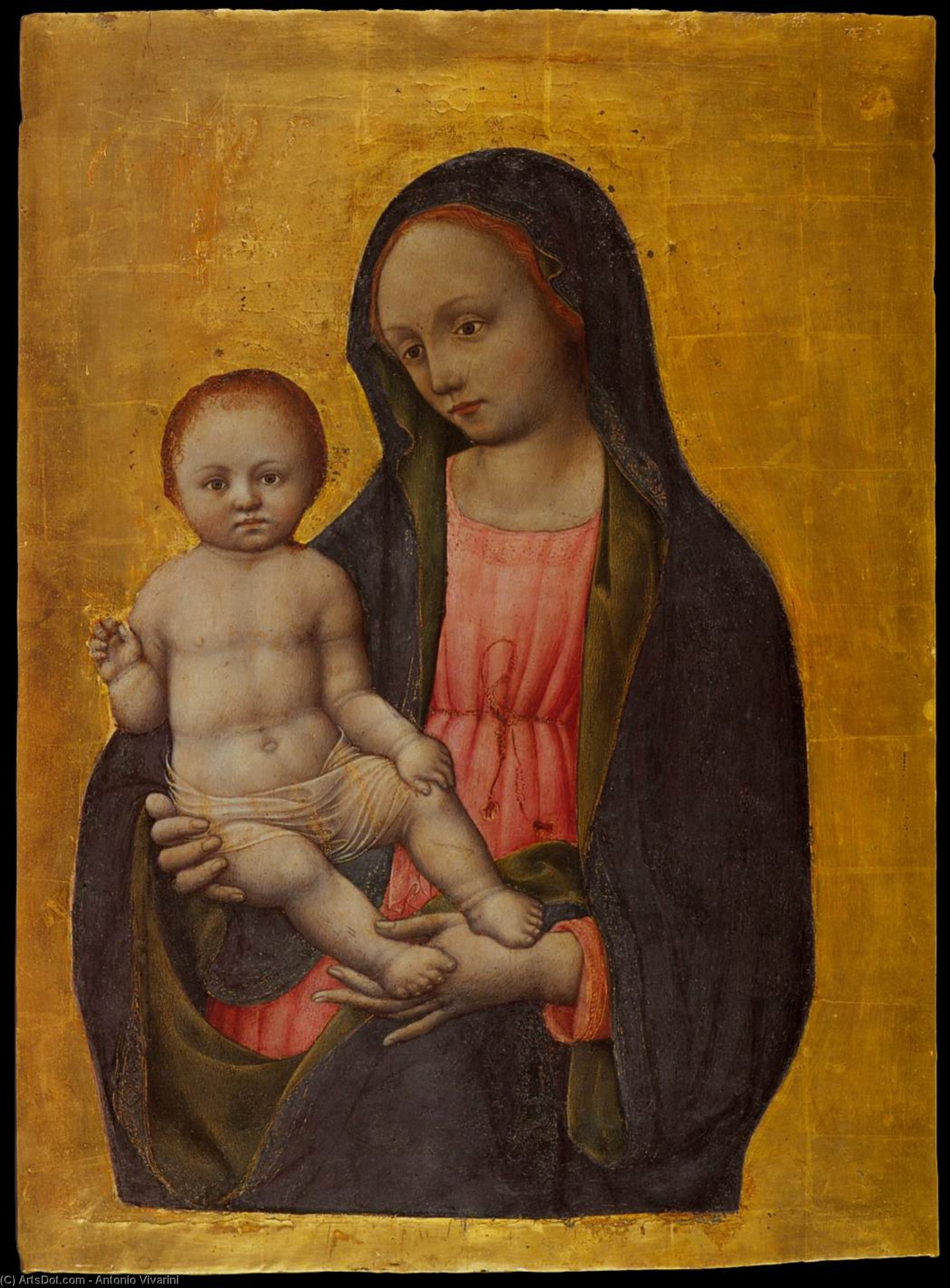 Virgin and Child Blessing, Tempera by Antonio Vivarini (1440-1480, Italy)