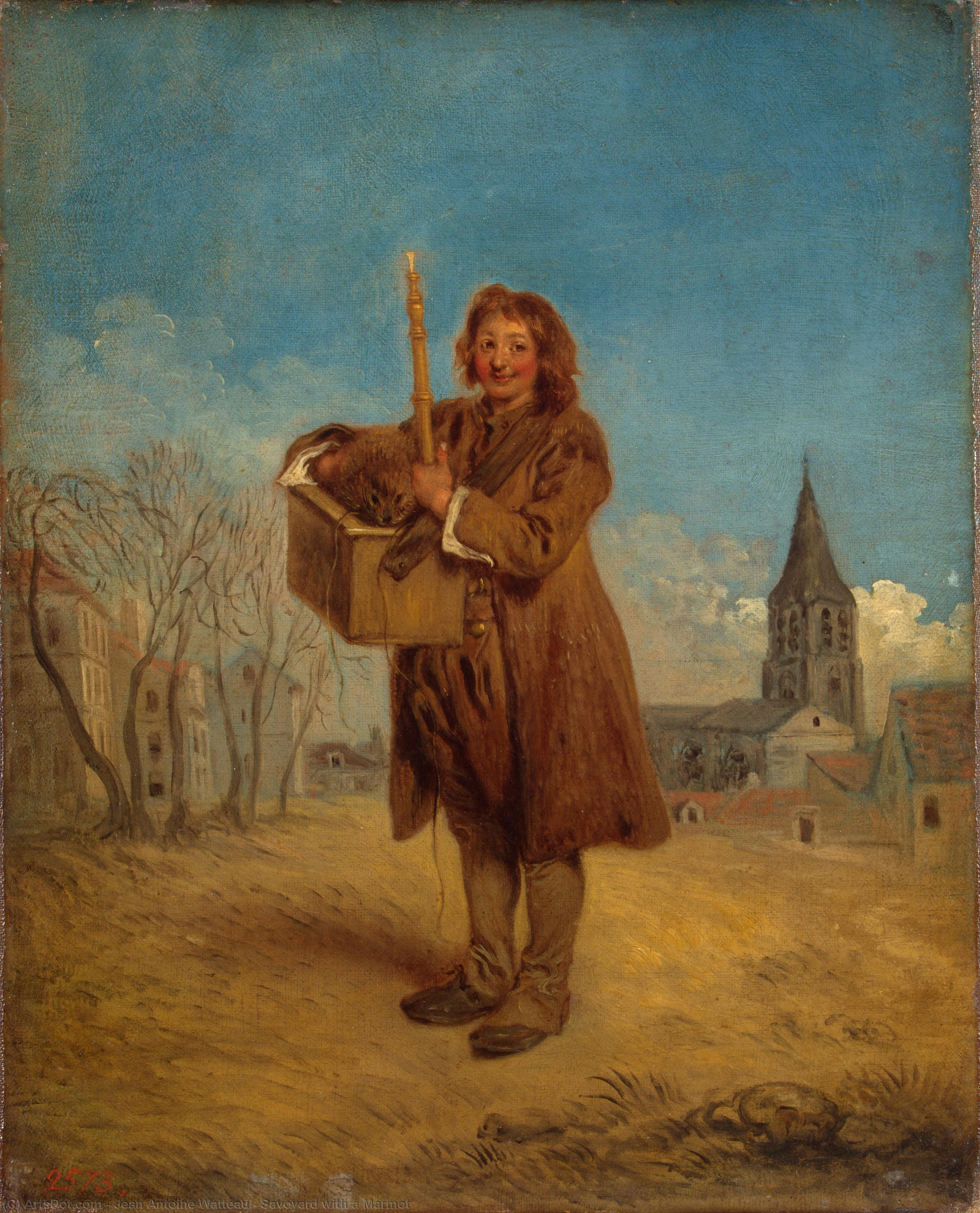 Savoyard with a Marmot, 1716 by Jean Antoine Watteau (1684-1721, France) | Museum Art Reproductions | ArtsDot.com