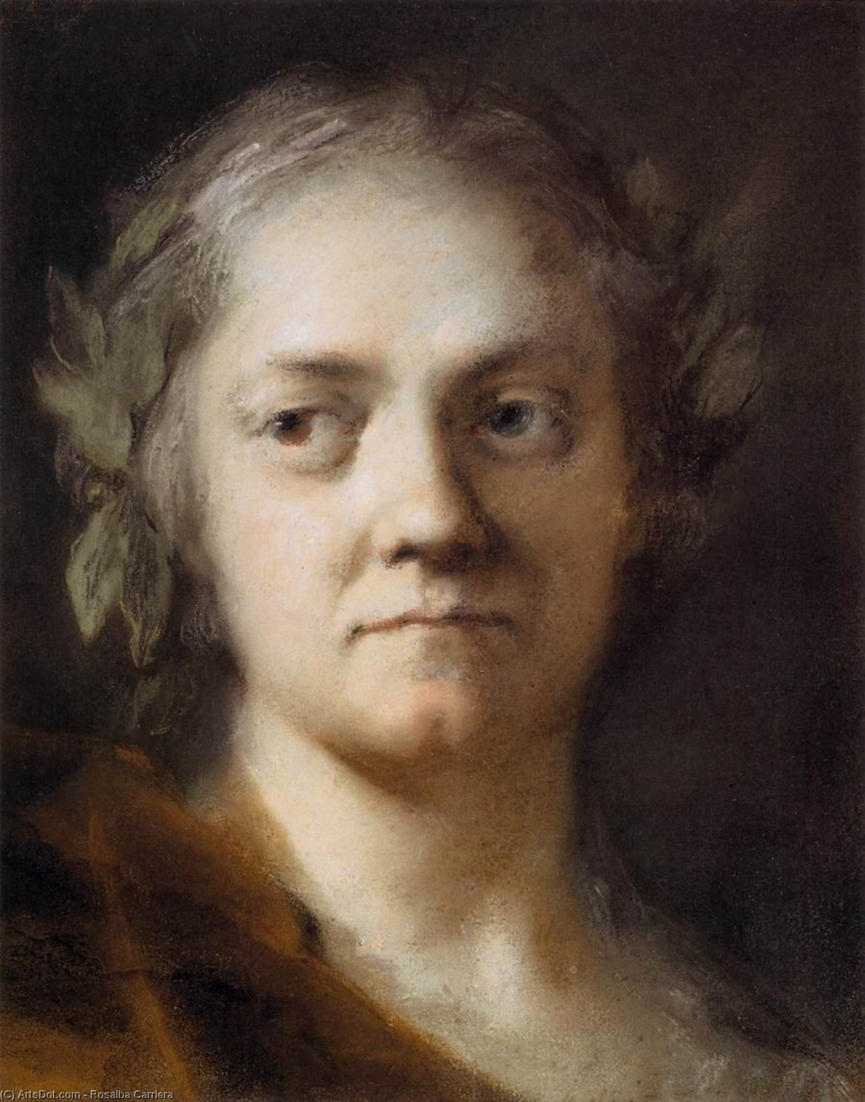 Self-Portrait, Pastel by Rosalba Carriera (1675-1757, Italy)