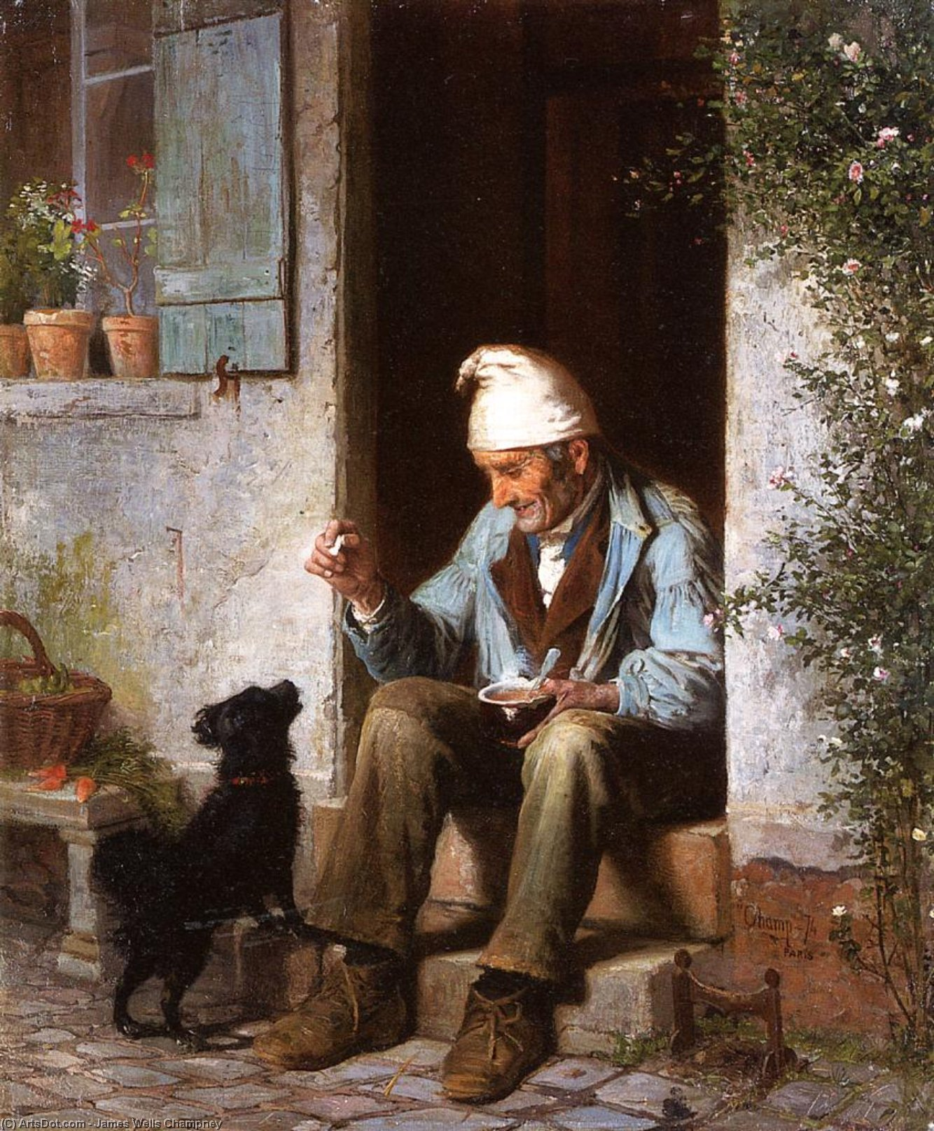 Buy Museum Art Reproductions : The Little Beggar, 1874 by James Wells Champney (1843-1903, United States) | ArtsDot.com