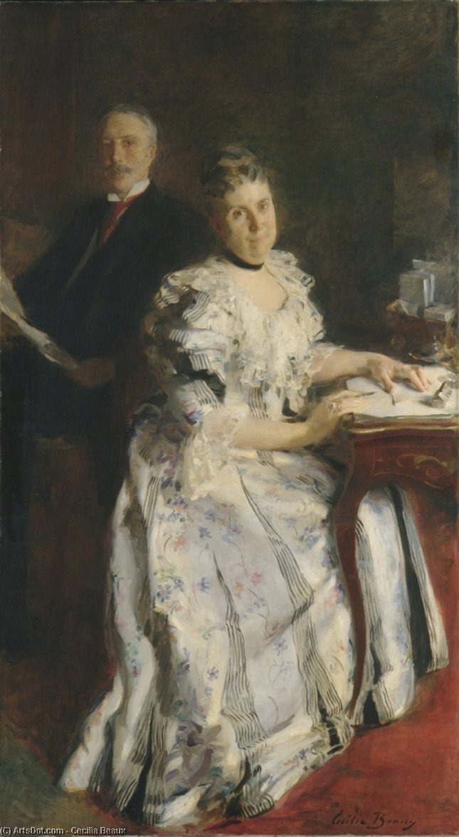 Mr. and Mrs. Anson Phelps Stokes, 1898 by Cecilia Beaux (1855-1942, United States) | Art Reproduction | ArtsDot.com