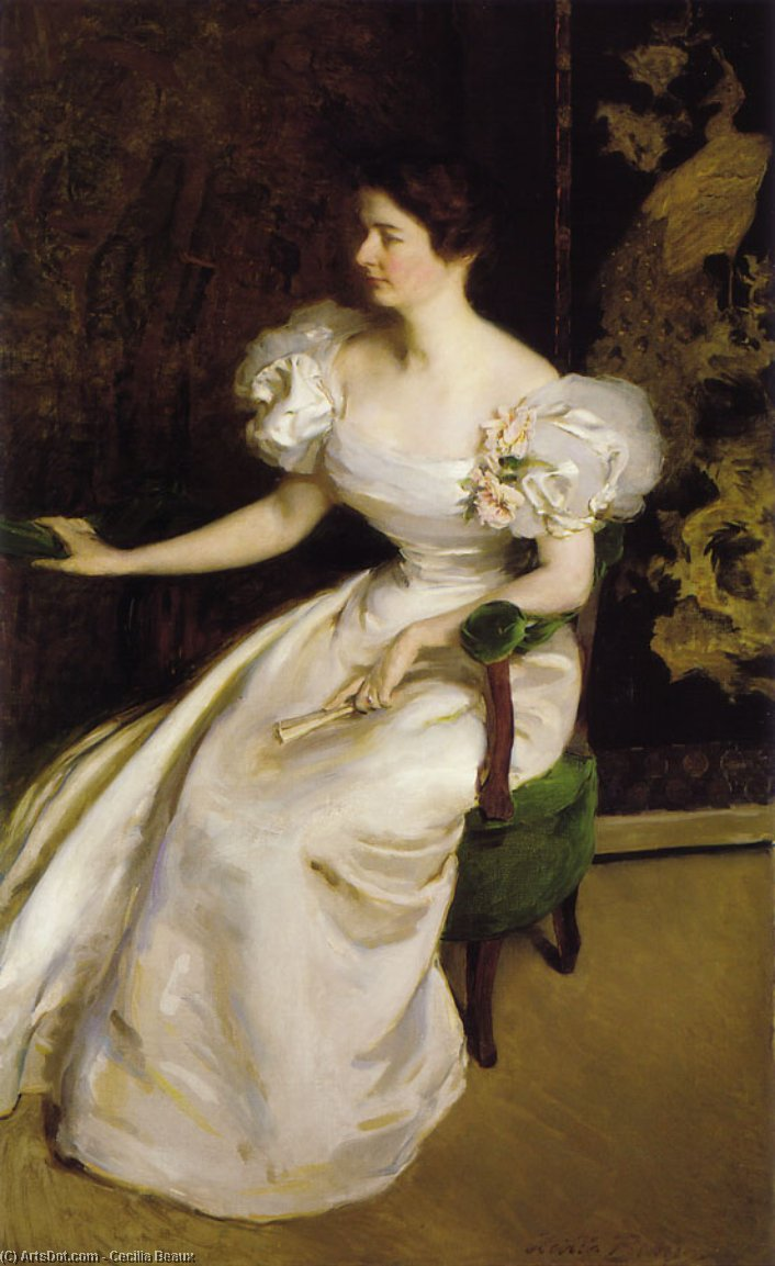 Mrs. Clement B. Newbold, Oil On Canvas by Cecilia Beaux (1855-1942, United States)