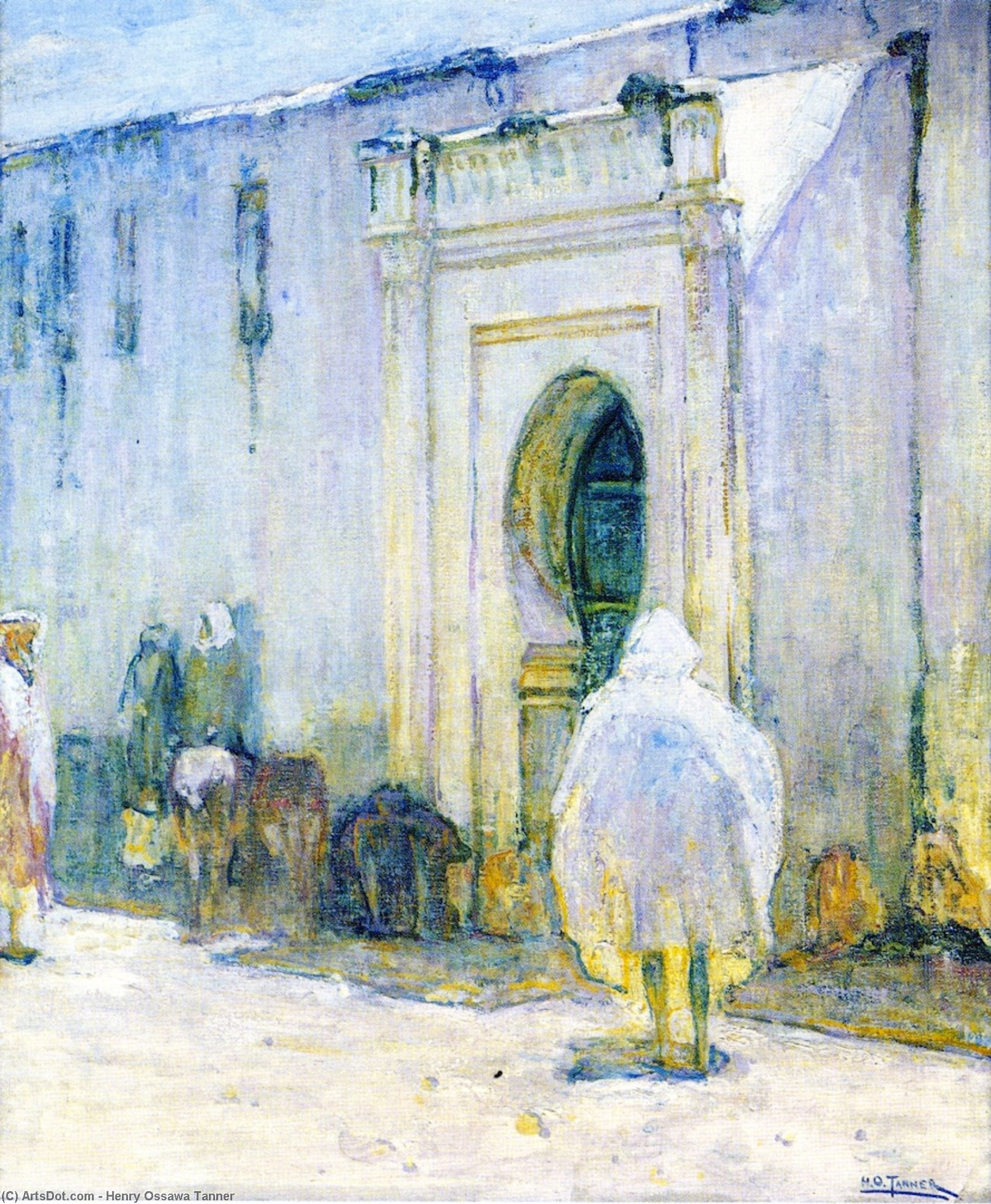 Near East Scene, 1912 by Henry Ossawa Tanner (1859-1937, United States) | Art Reproduction | ArtsDot.com