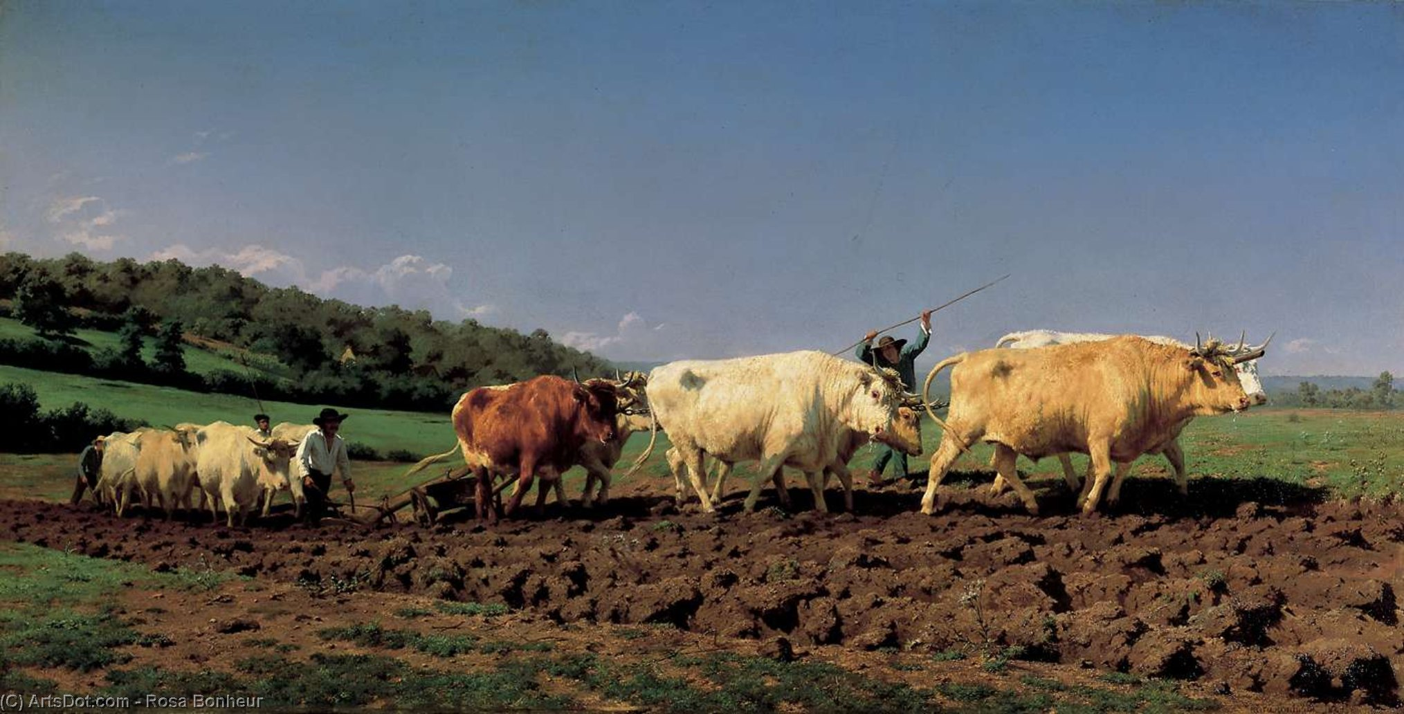 Plowing in the Nivernais, 1849 by Rosa Bonheur (1822-1899, France) | Museum Quality Reproductions | ArtsDot.com