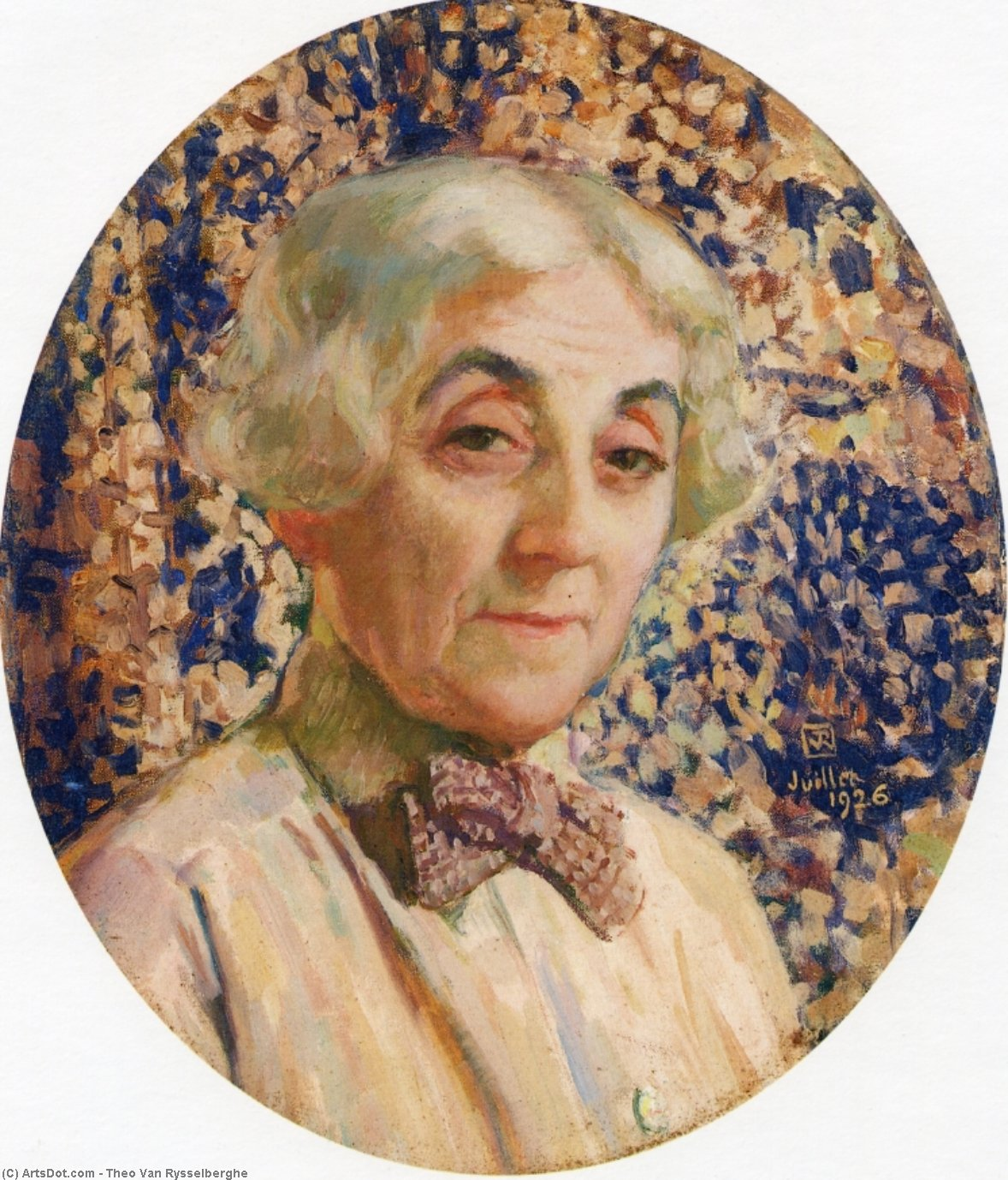 Portrait of Maria van Rysselberghe, Oil On Canvas by Theo Van Rysselberghe (1862-1926, Belgium)