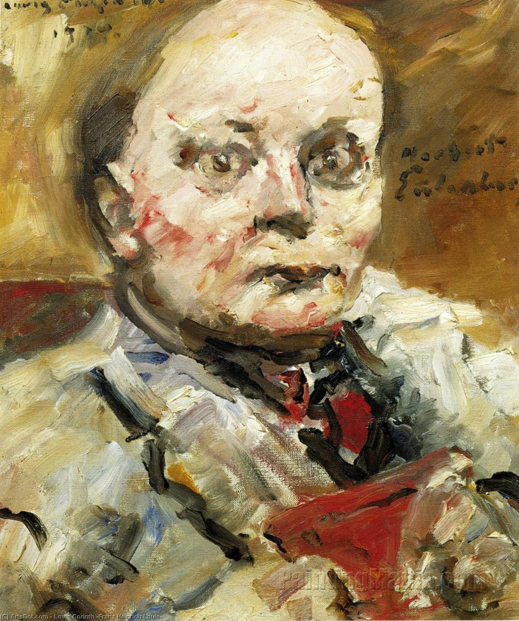Portrait of the Poet Herbert Eulenberg, Oil On Canvas by Lovis Corinth (Franz Heinrich Louis) (1858-1925, Netherlands)