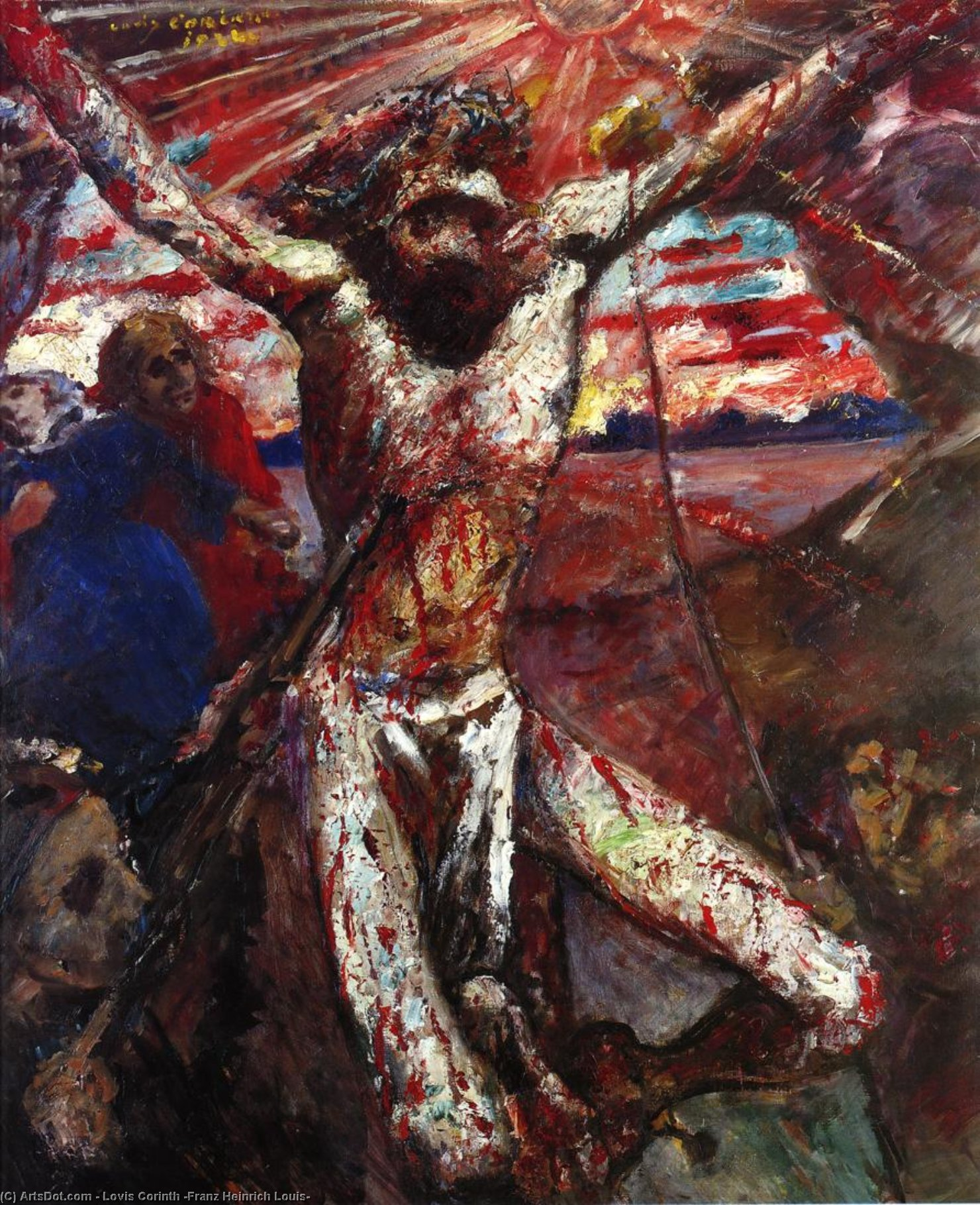 Red Christ, Painting by Lovis Corinth (Franz Heinrich Louis) (1858-1925, Netherlands)