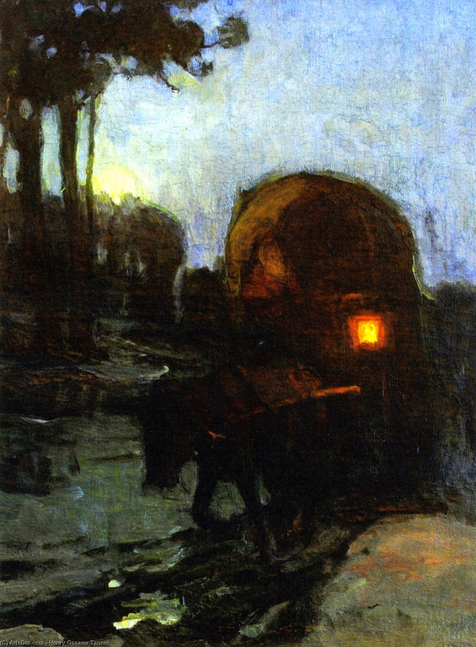 Return at Night from the Market, 1912 by Henry Ossawa Tanner (1859-1937, United States) | ArtsDot.com