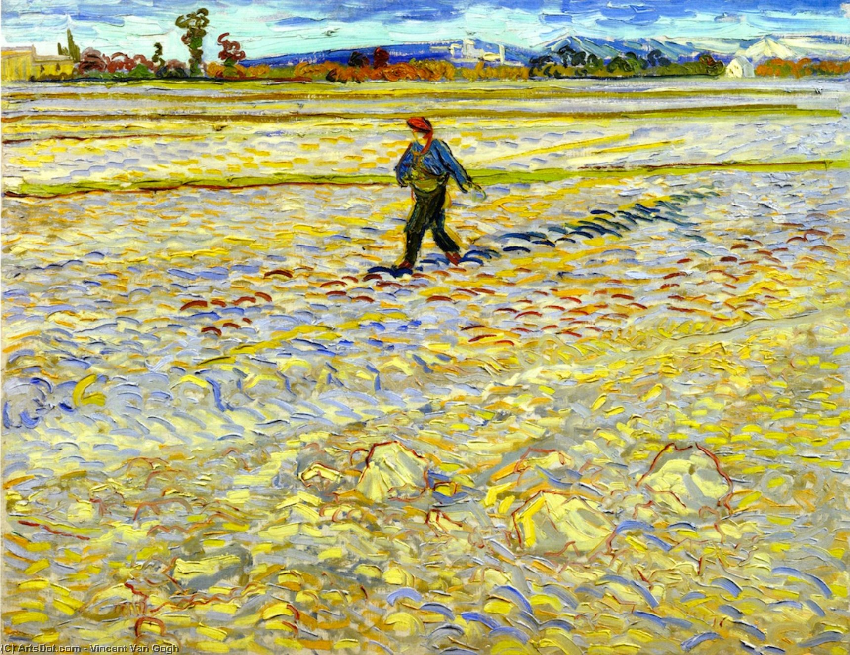 Order Paintings Reproductions | The Sower, 1888 by Vincent Van Gogh (1853-1890, Netherlands) | ArtsDot.com