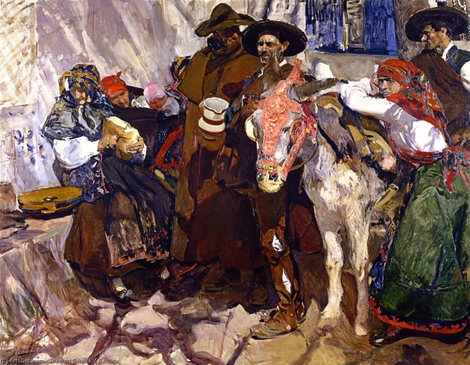 Villagers from Leon, Oil On Canvas by Joaquin Sorolla Y Bastida (1863-1923, Spain)