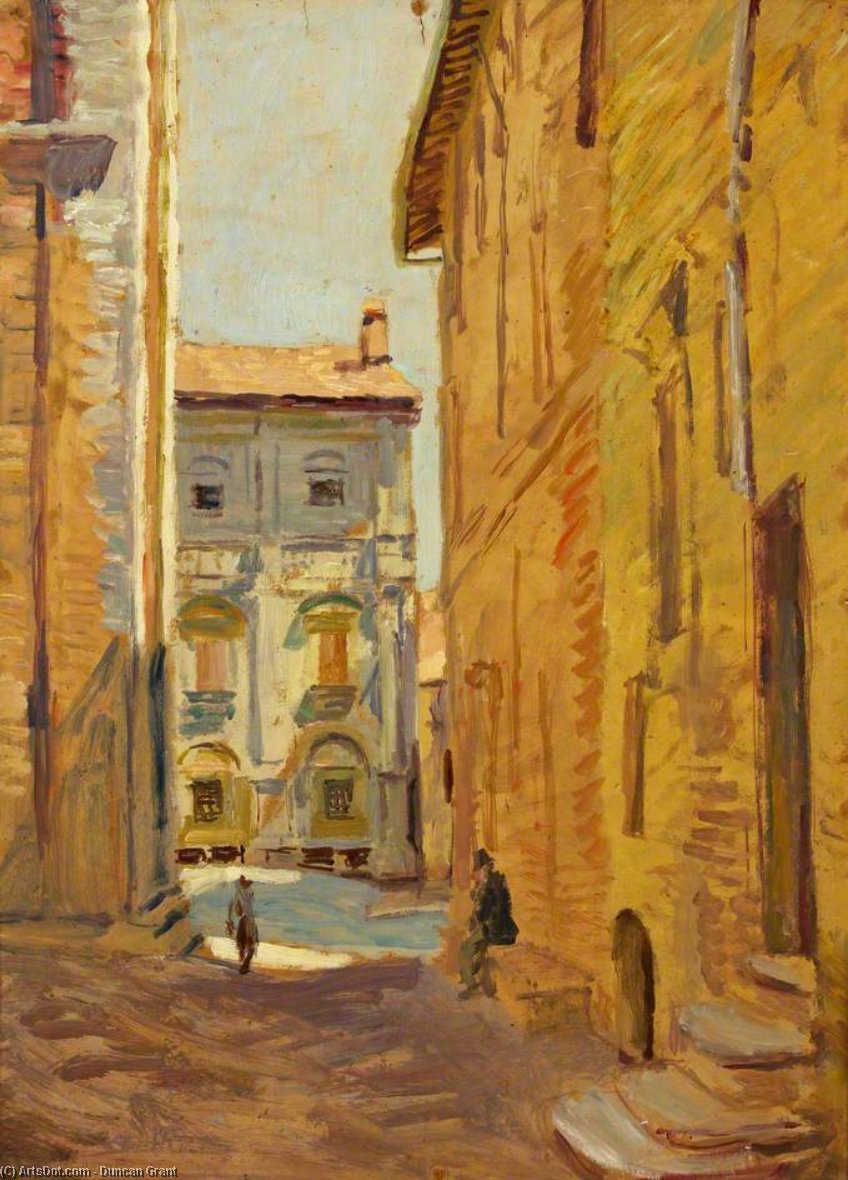 A Street In Pienza by Duncan Grant (1885-1978, Scotland)