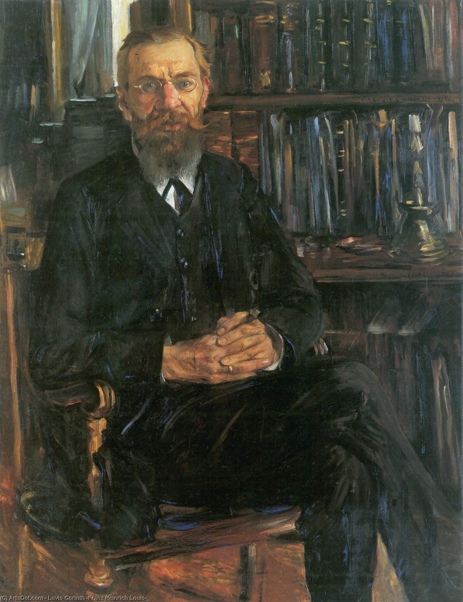 Portrait Of Dr Edward Meyer by Lovis Corinth (Franz Heinrich Louis) (1858-1925, Netherlands)