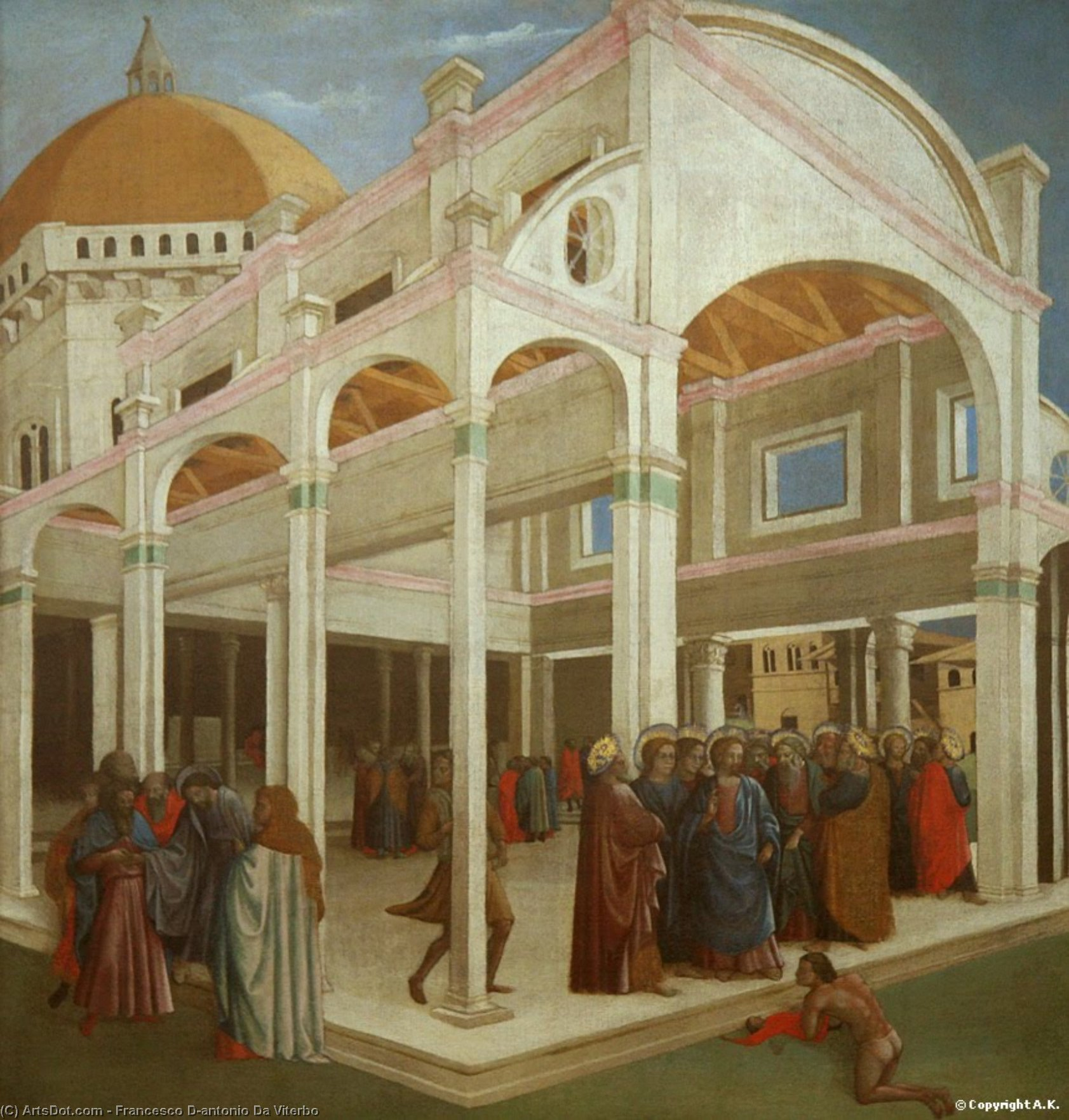 Masaccio And Francesco D'antonio by Francesco D'antonio Da Viterbo (1407-1476, Italy)
